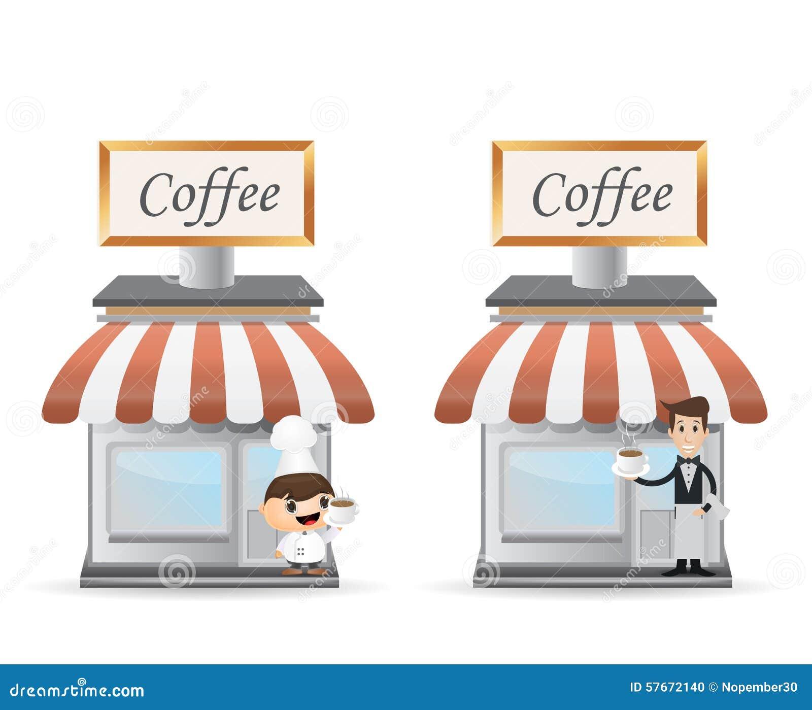 Witryny sklepowej kawa