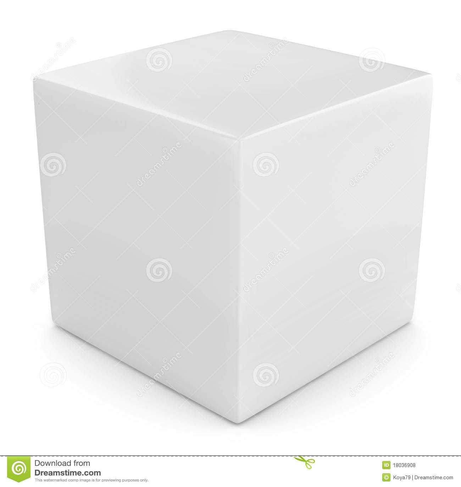 Witte 3d kubus