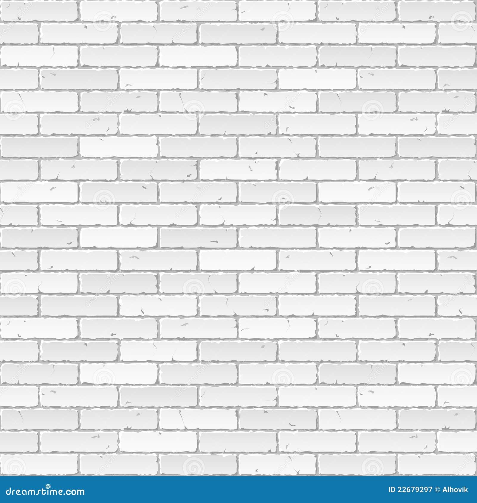 Witte Bakstenen Muur Vector Illustratie Illustratie