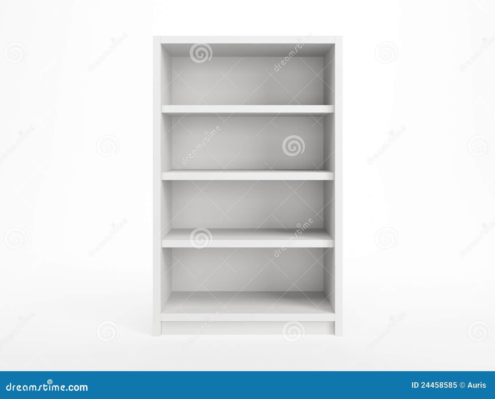 Witte boekenkast stock illustratie. Illustratie bestaande uit gebied ...