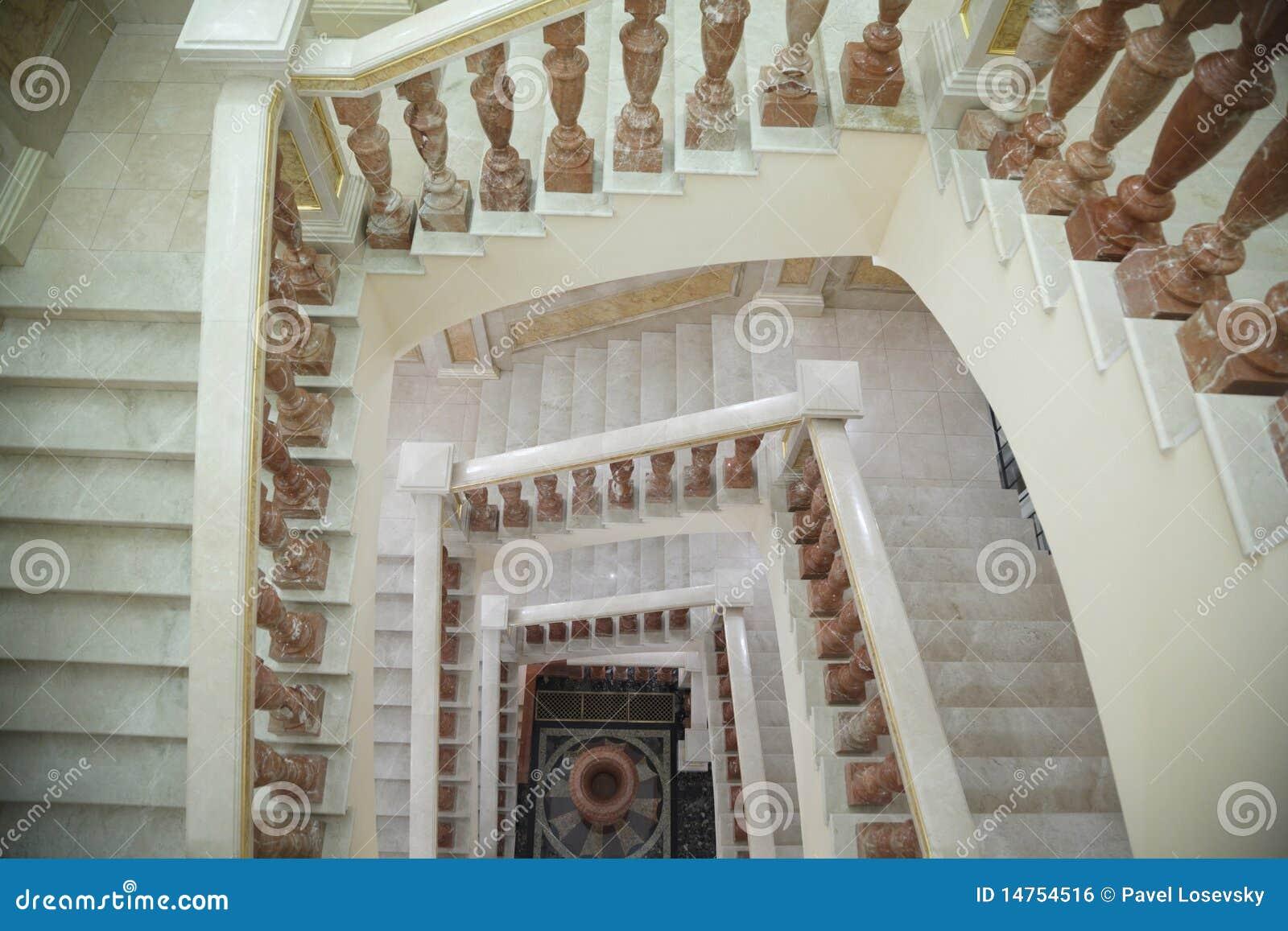 Witte cirkel marmeren trap met bruine tribune royalty vrije stock afbeelding afbeelding 14754516 - Decoratie gang ingang ...