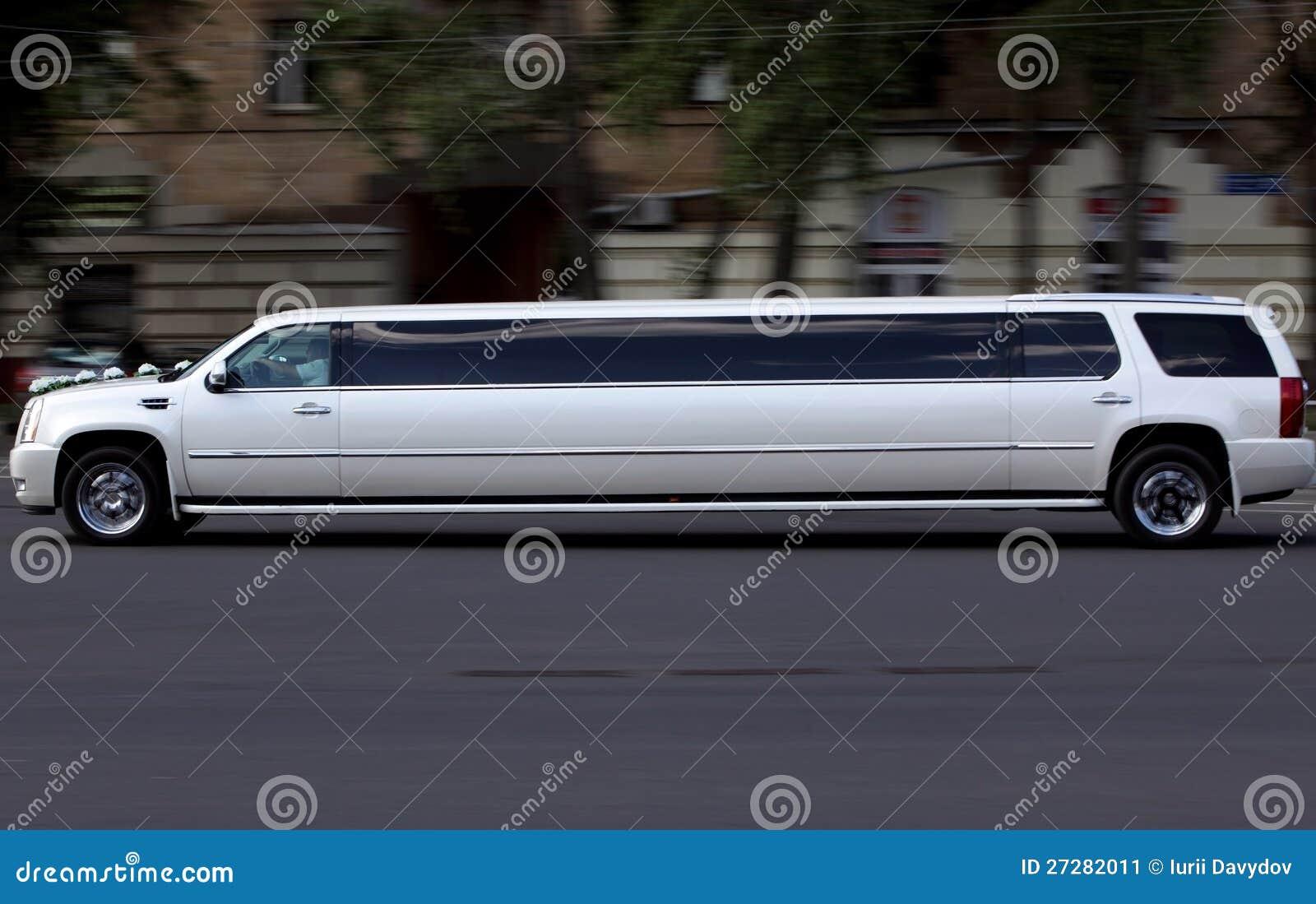witte de luxe lange auto van het huwelijk stock afbeelding afbeelding bestaande uit life. Black Bedroom Furniture Sets. Home Design Ideas