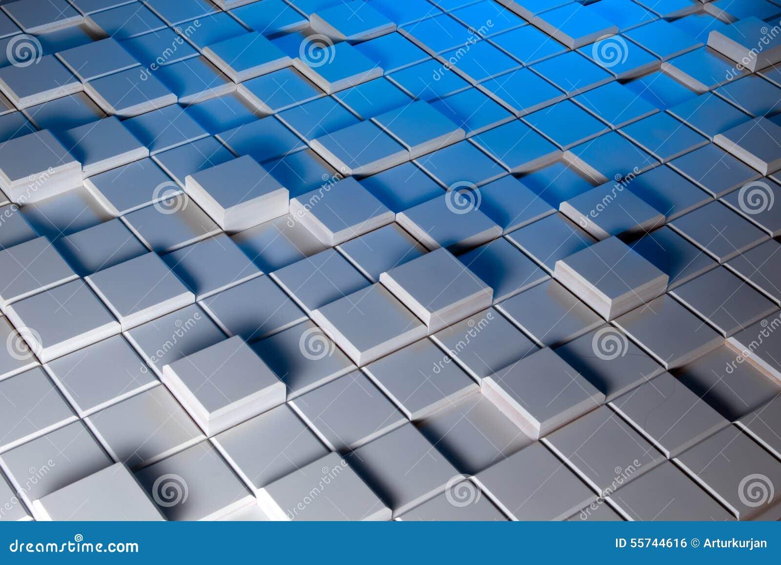 Witte en blauwe achtergrond van regelmatig gevormd