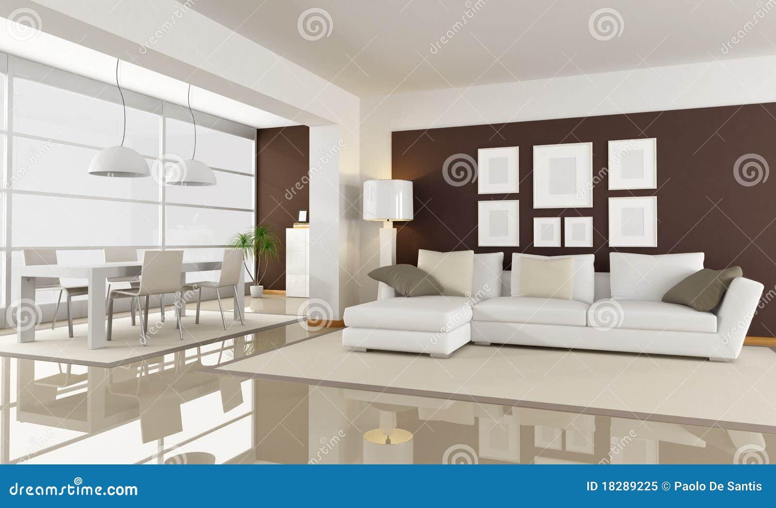 Witte en bruine woonkamer royalty vrije stock foto afbeelding 18289225 - Witte badkamer en bruin ...