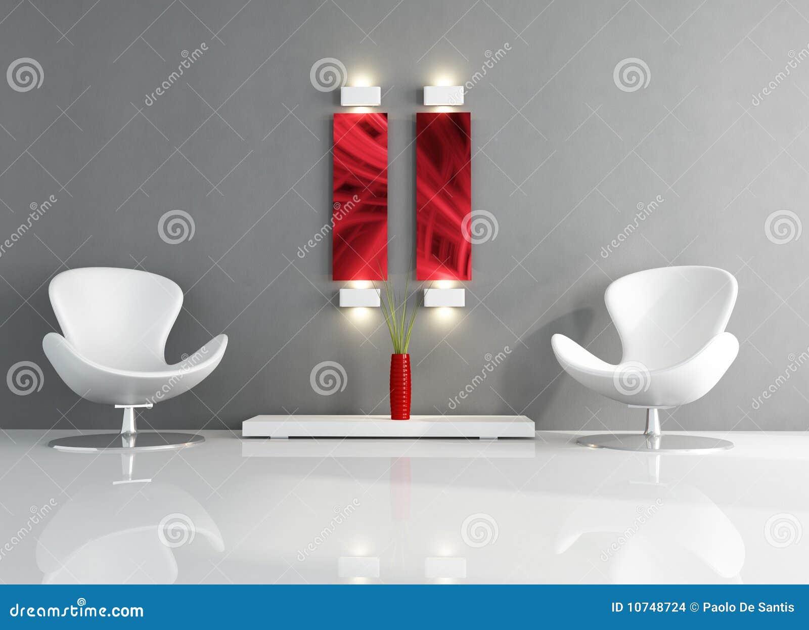 Witte En Grijze Minimale Woonkamer Stock Afbeeldingen - Afbeelding ...