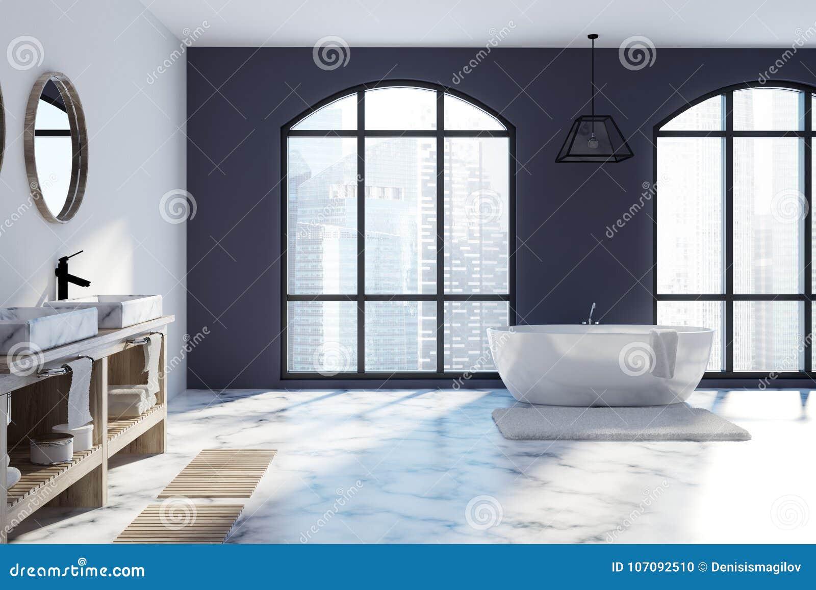 Marmeren Badkamer Vloer : Witte en zwarte badkamers marmeren vloer stock illustratie