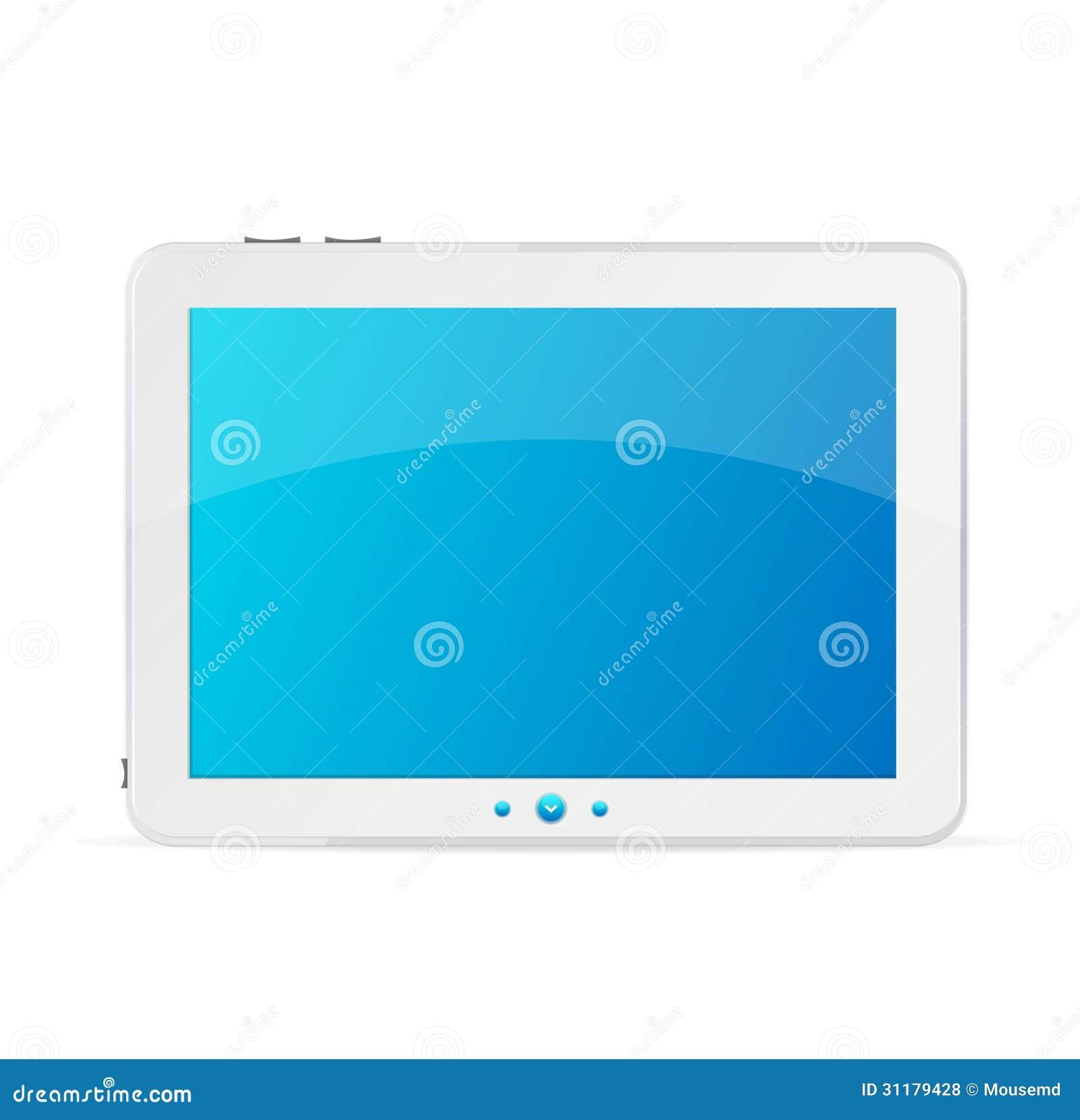 Witte geïsoleerde tabletpc