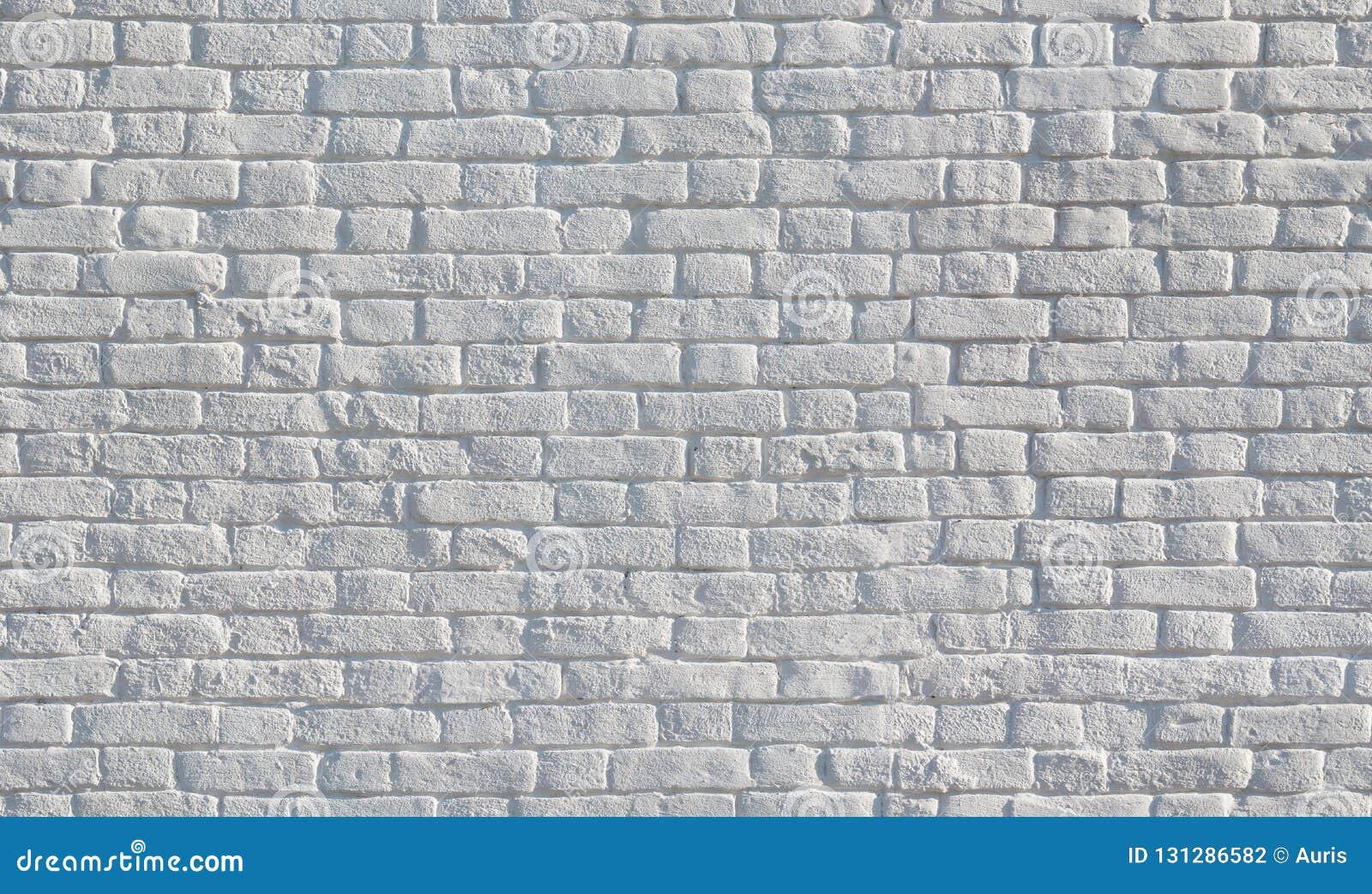 Witte geschilderde bakstenen muur naadloze textuur