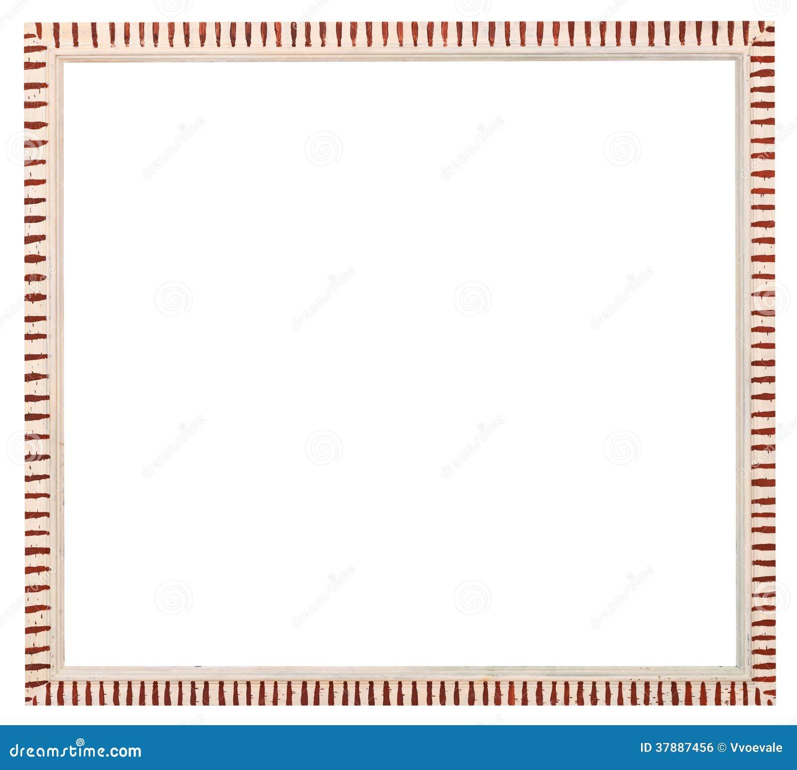 Witte gestreepte omlijsting met verwijderd canvas