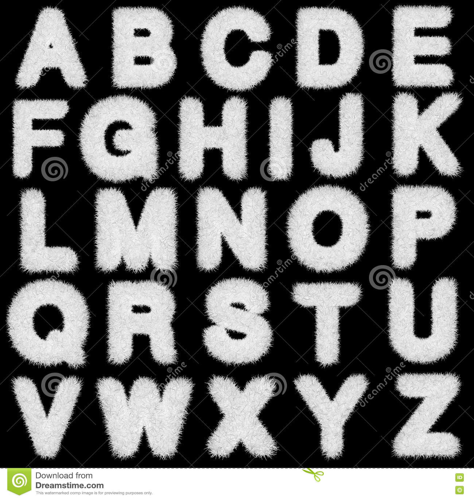 Witte grasbrieven, hoger en in kleine letters