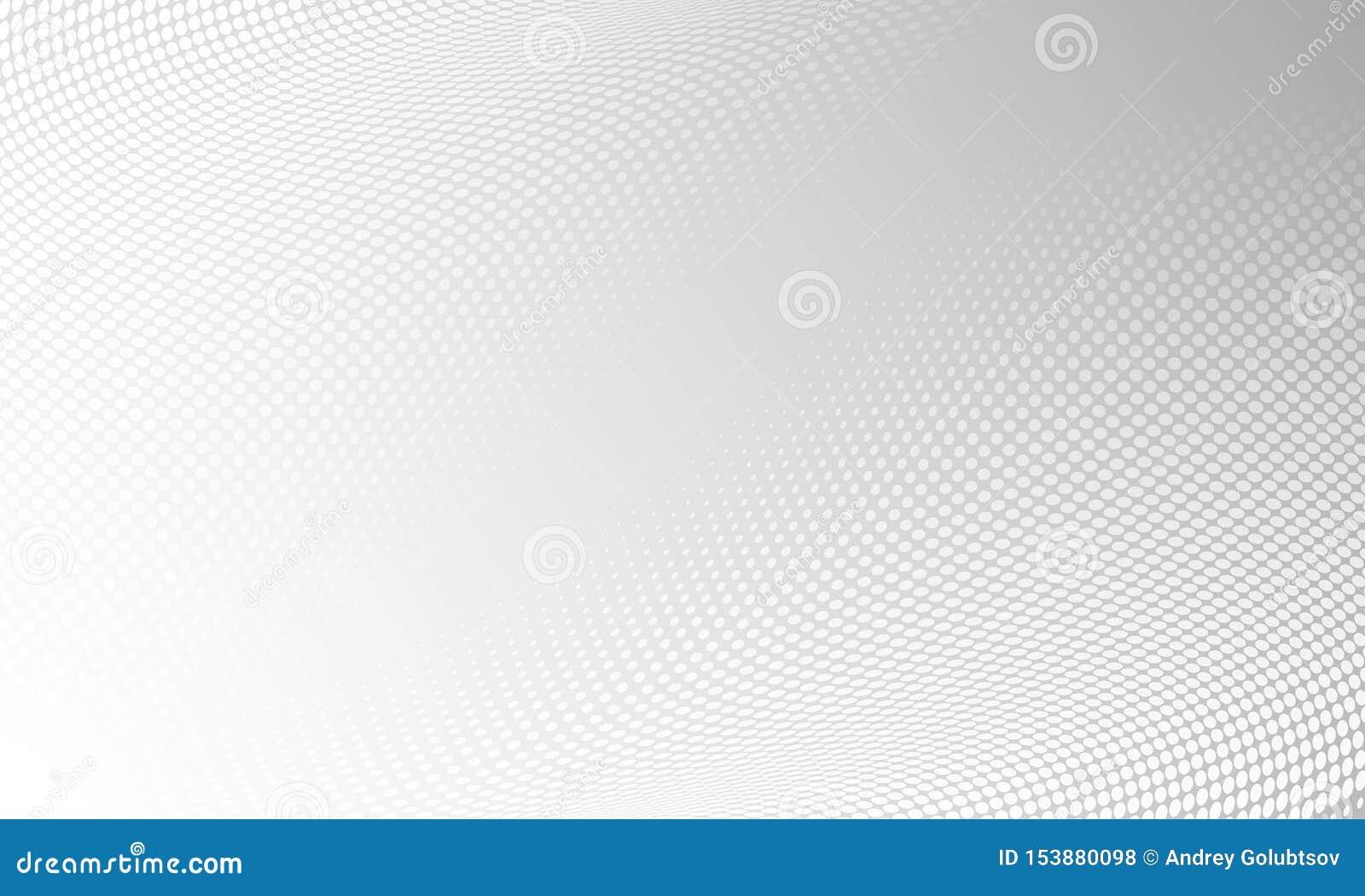 Witte grijze moderne heldere halftone patroonachtergrond Vector digitaal grafisch ontwerp, de achtergrond van de motietextuur