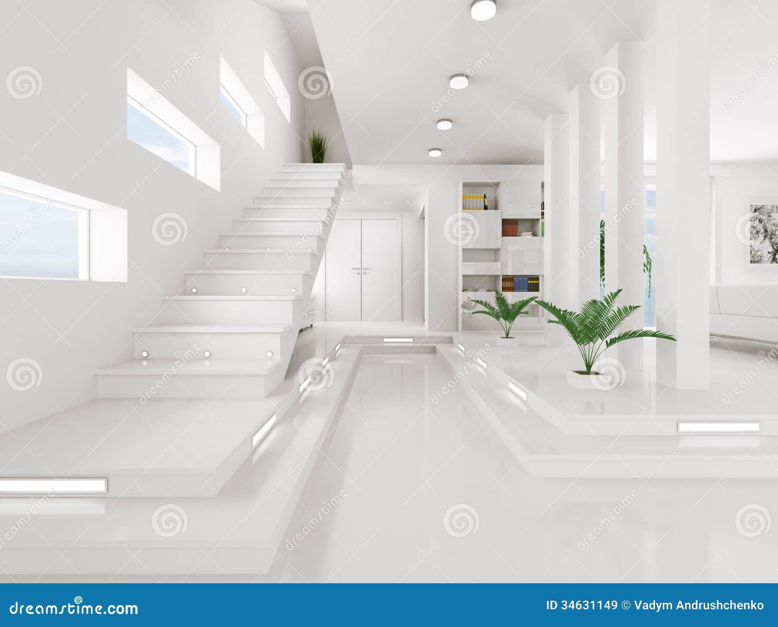 Witte hal binnenlandse 3d geeft terug royalty vrije stock afbeeldingen afbeelding 34631149 - Hal ingang ontwerp ...