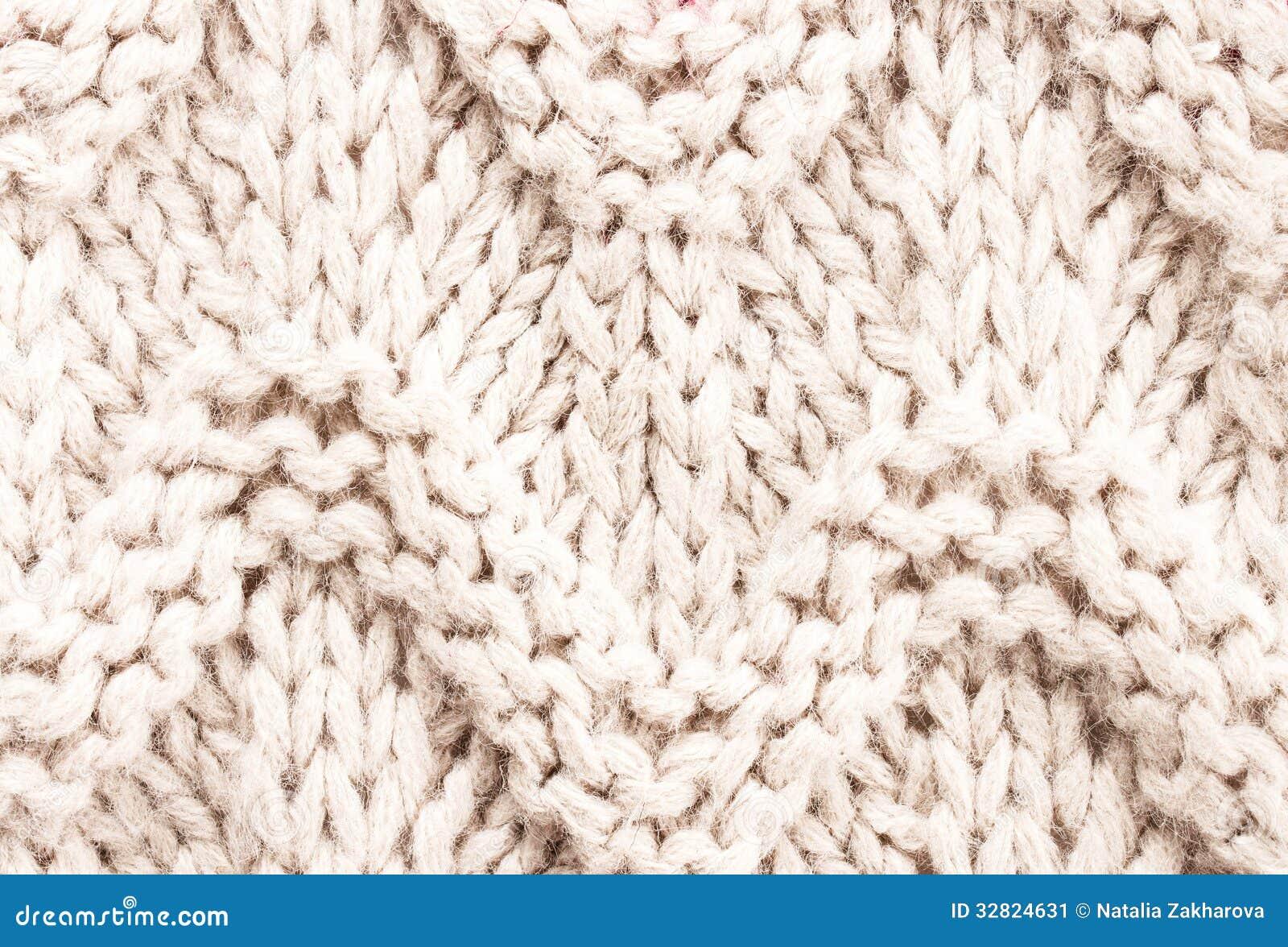 Witte Het Breien Textuur Als Achtergrond Brei Wollen Stof