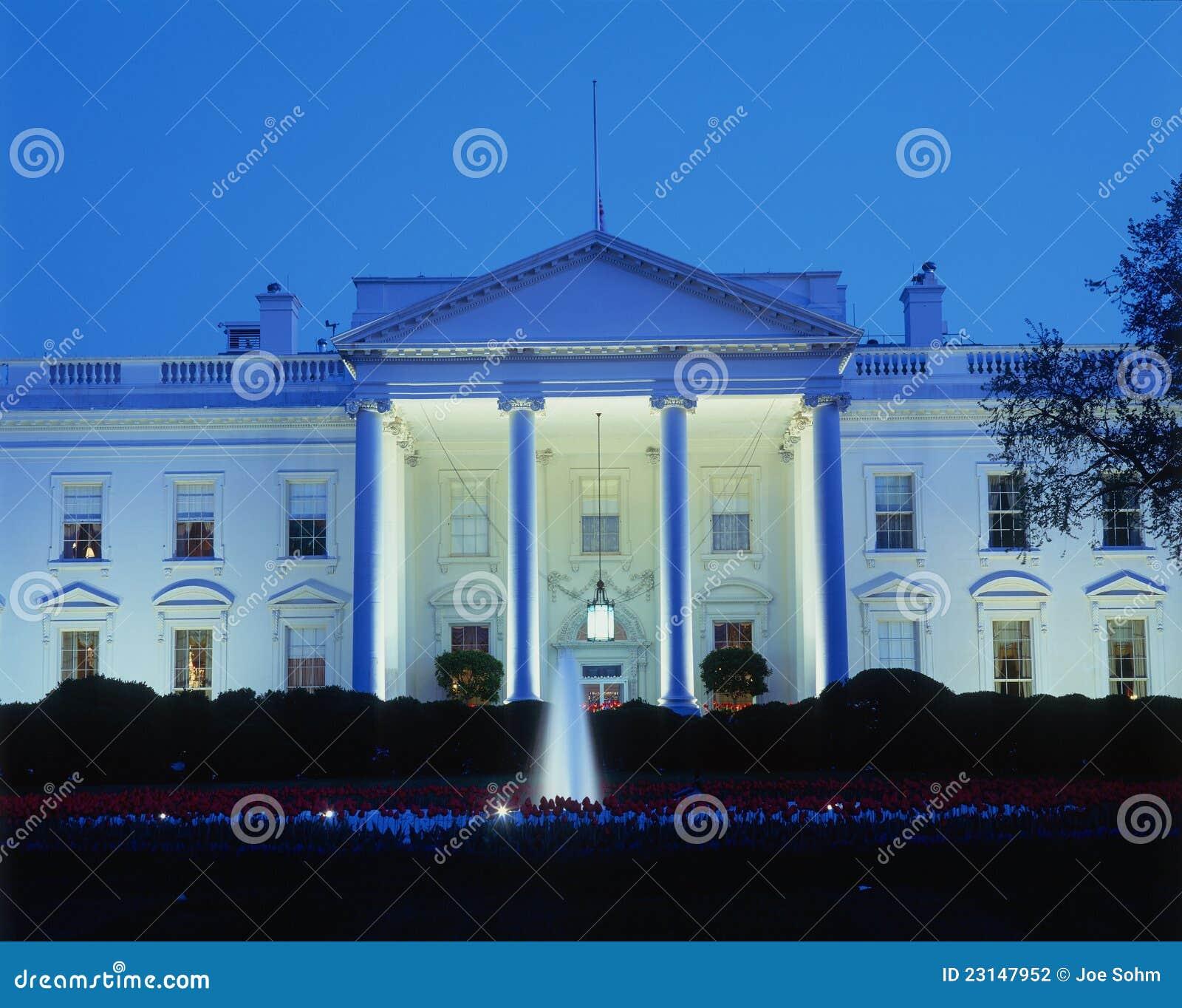 Witte Huis bij nacht