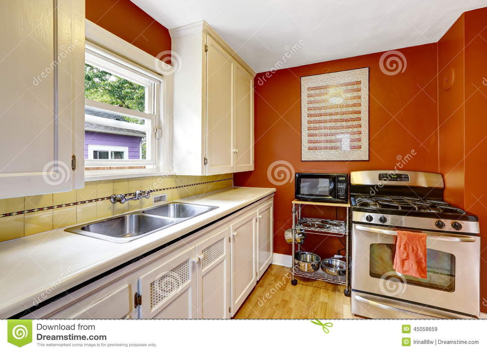 Standaard Witte Keukenkasten: Witte keuken houten werkblad blok ...