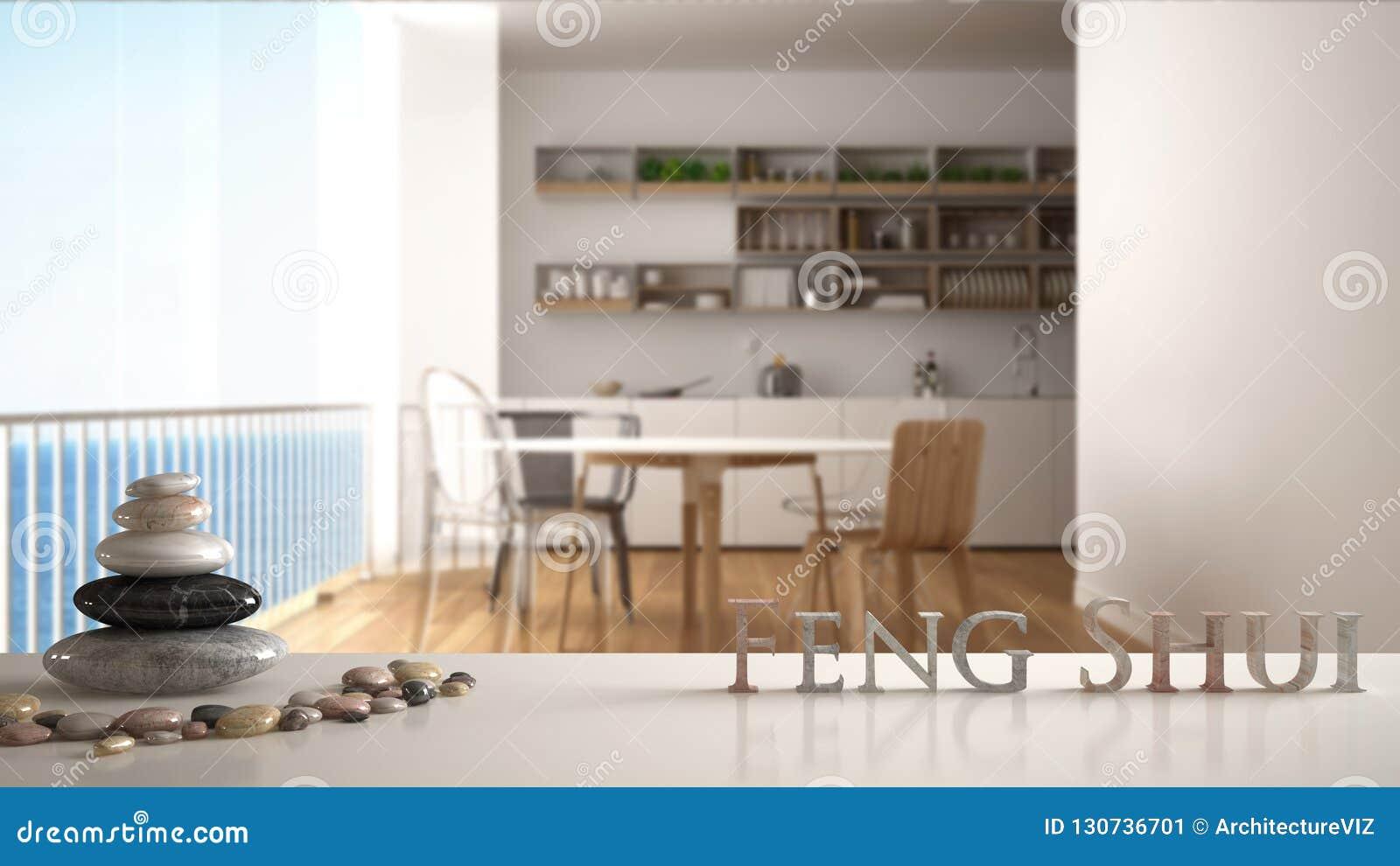 Grote Witte Eettafel.Witte Lijstplank Met Kiezelsteensaldo En 3d Brieven Die