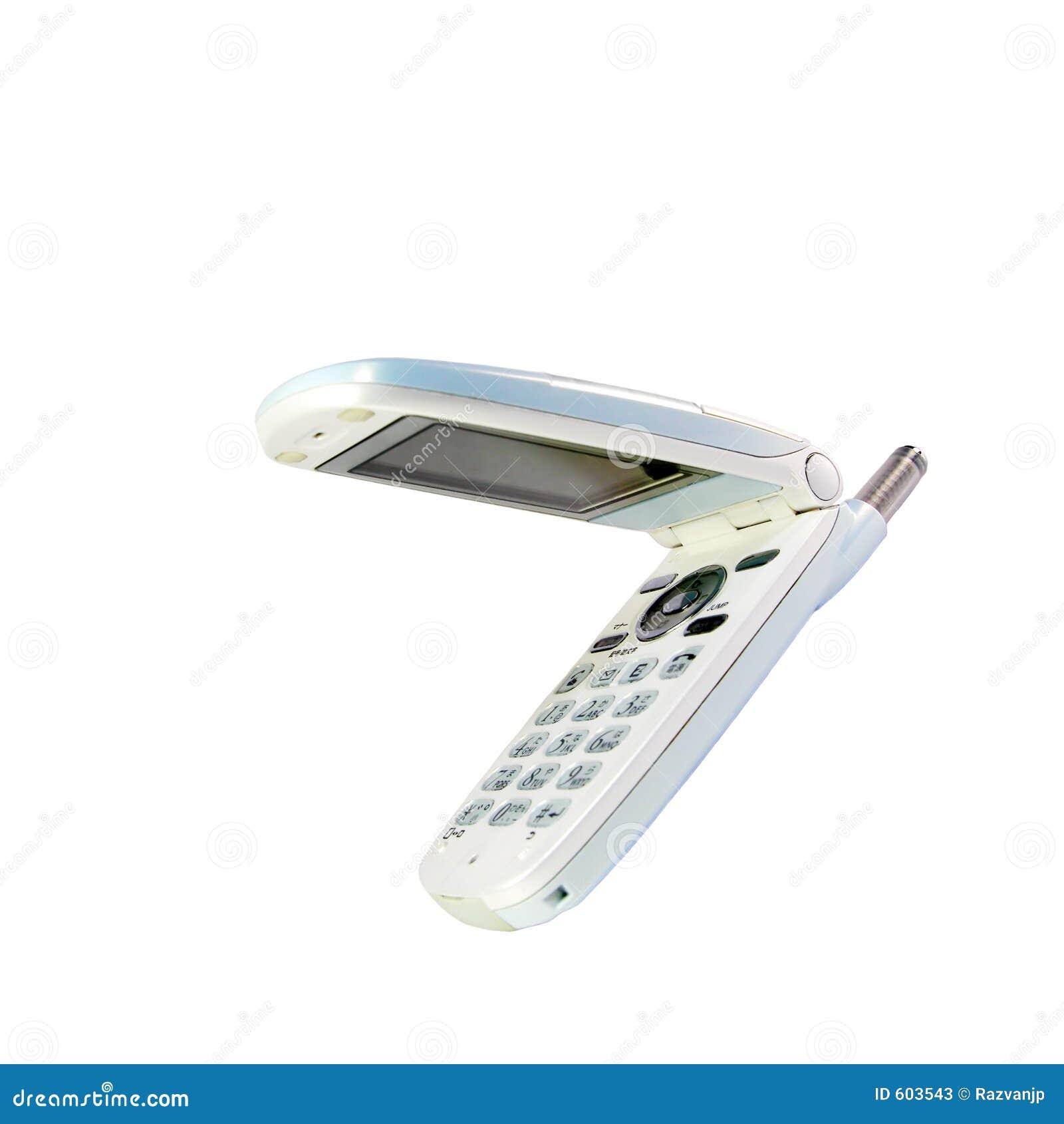 Witte mobiele telefoon
