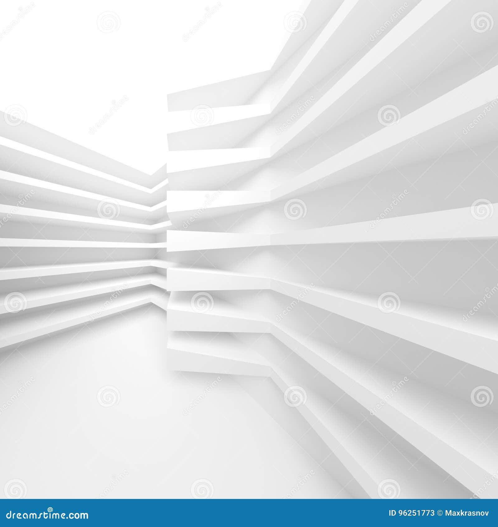 Witte Moderne Architectuurachtergrond Abstracte Bouwstenen