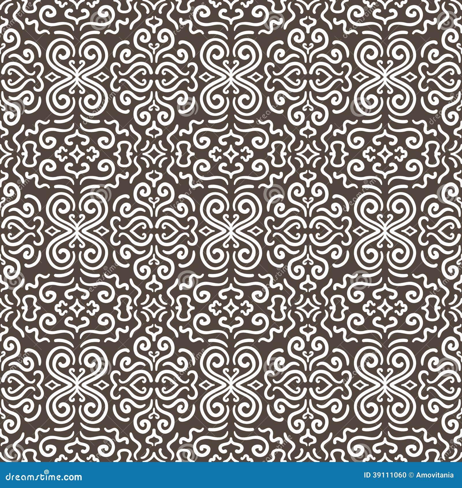Witte naadloze het patroonachtergrond van het fantasiecontrast