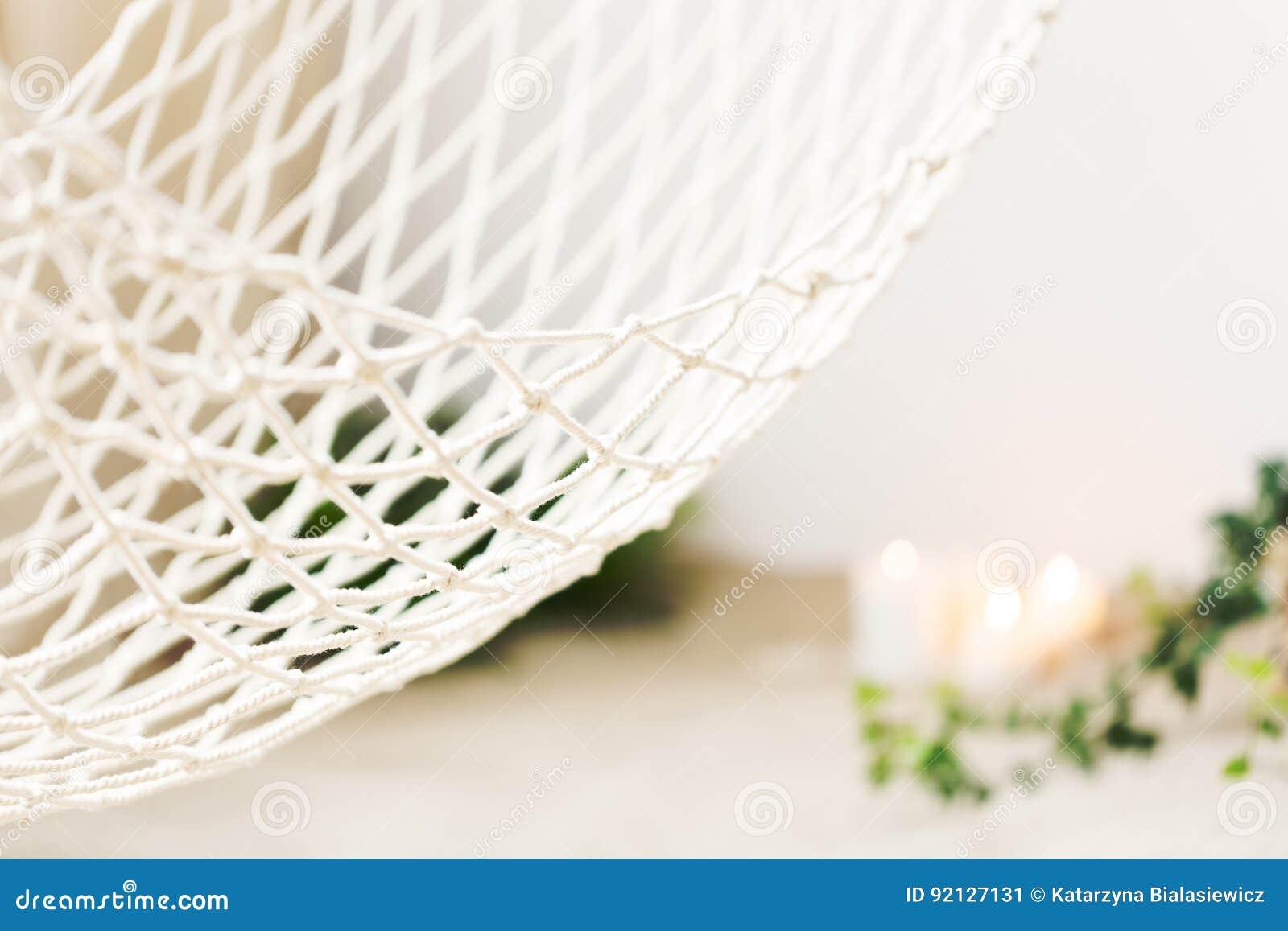 Witte netto hangmat