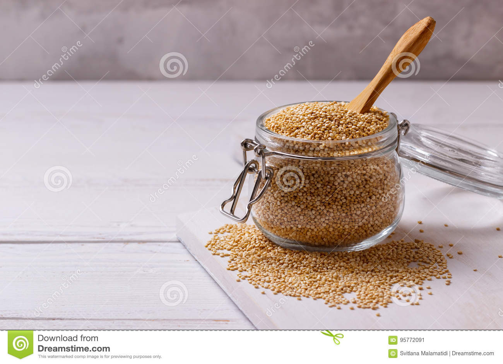 Witte quinoa zaden
