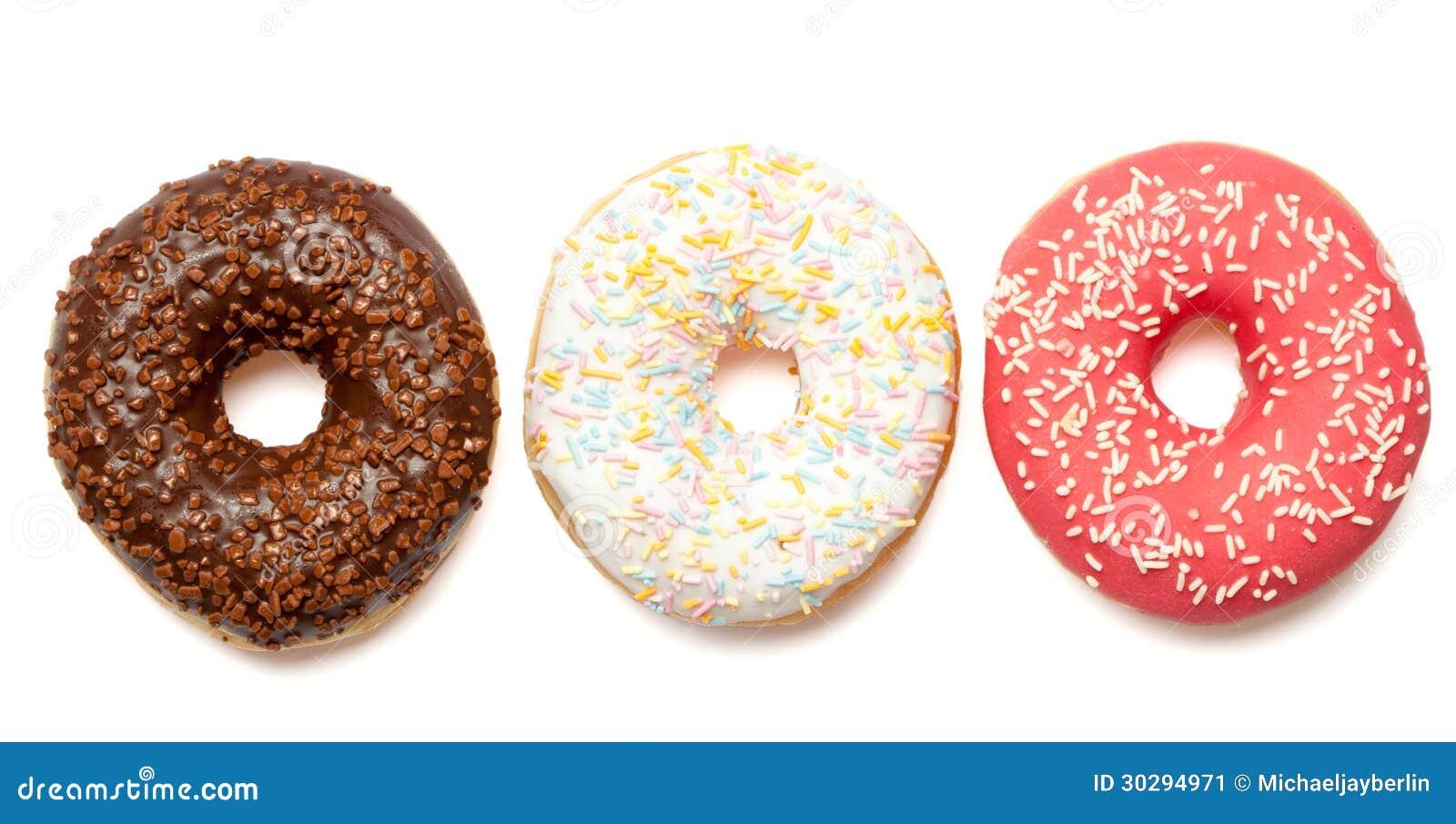 Witte rode en bruine donuts stock afbeelding afbeelding 30294971 - Witte badkamer en bruin ...