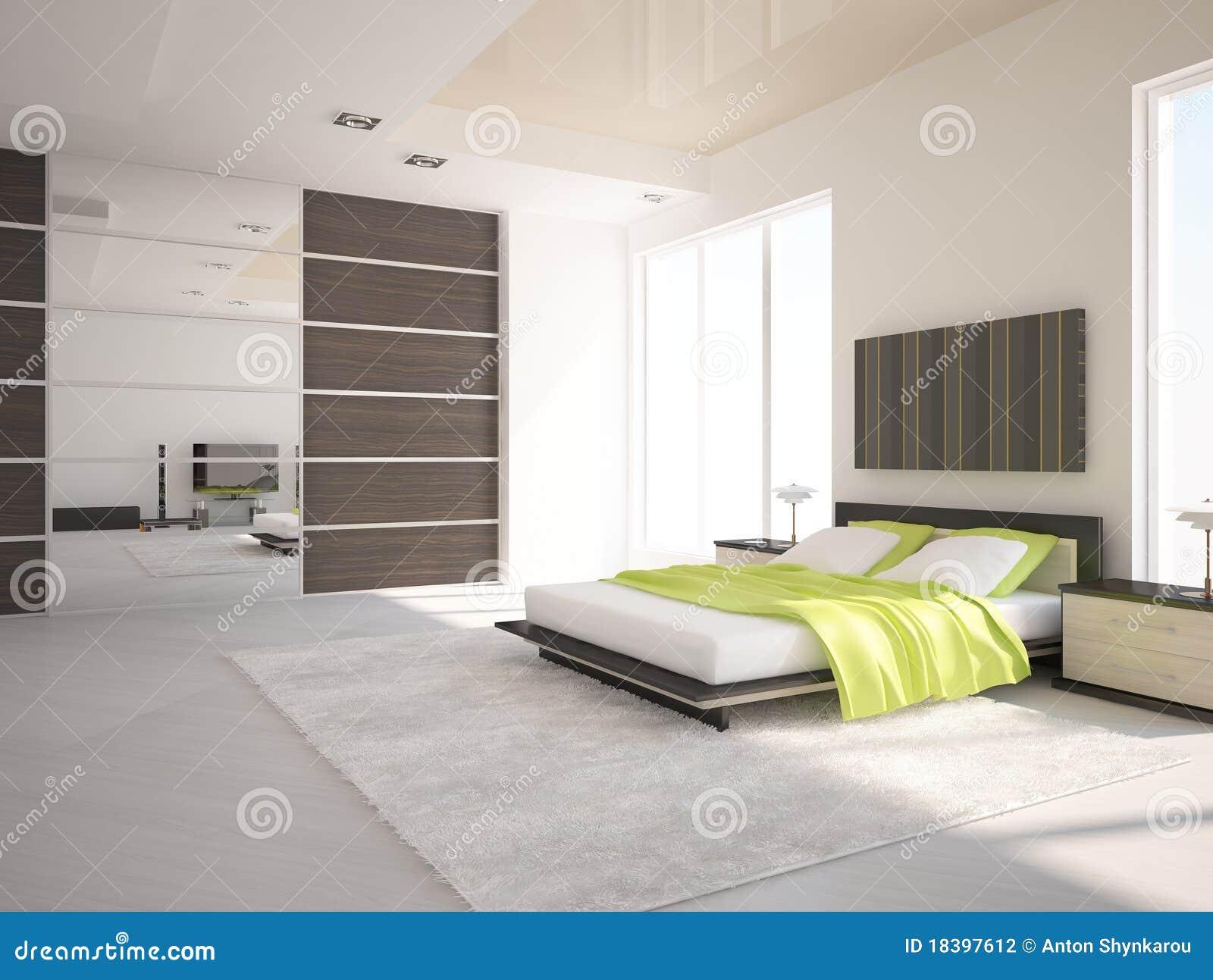 Witte slaapkamer stock fotografie afbeelding 18397612 - Slaapkamer idee ...