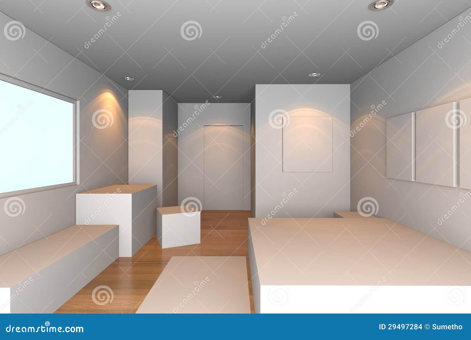 Witte slaapkamer stock afbeeldingen beeld 29497284 - Model slaapkamer ...