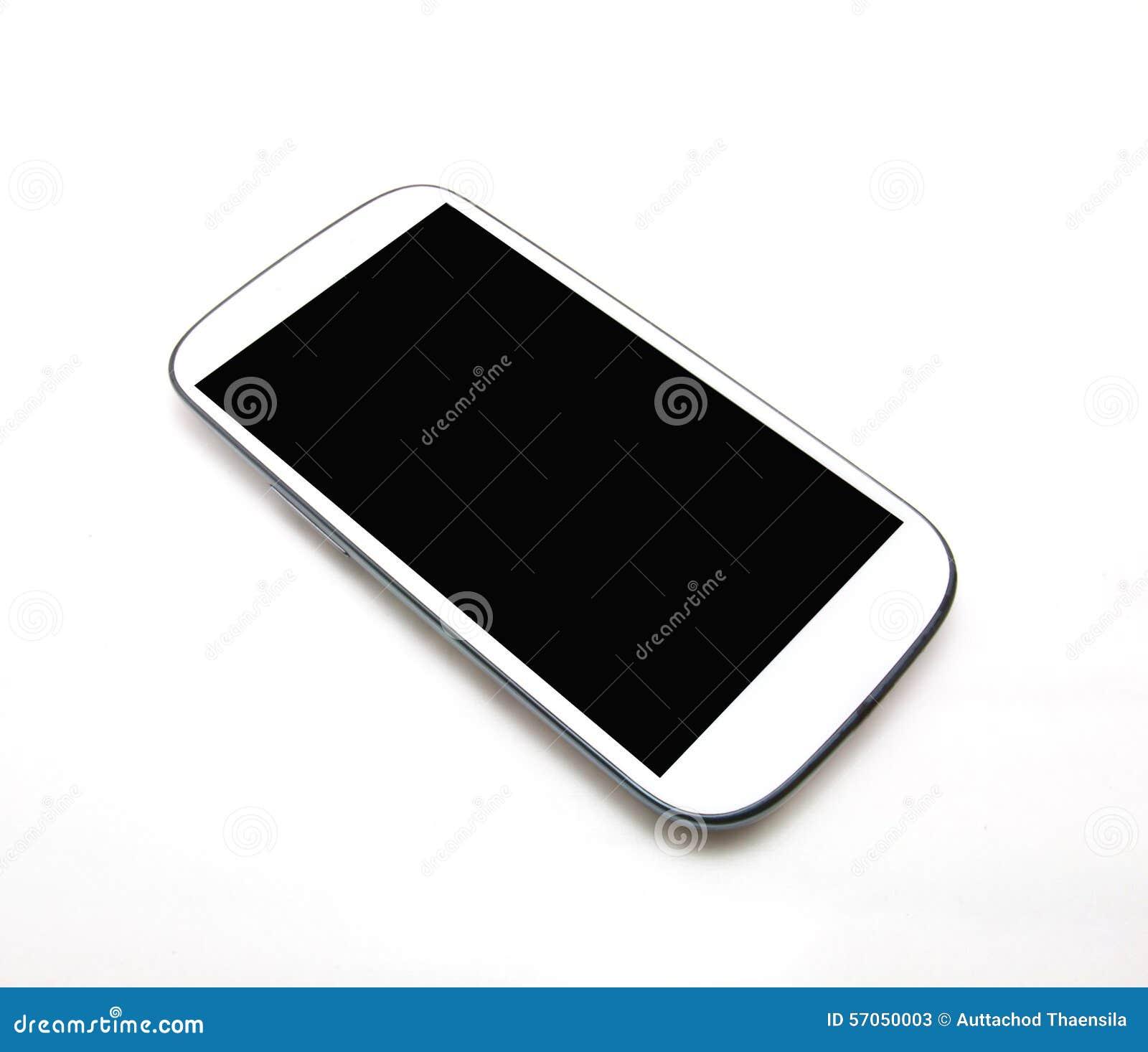 Witte slimme telefoon