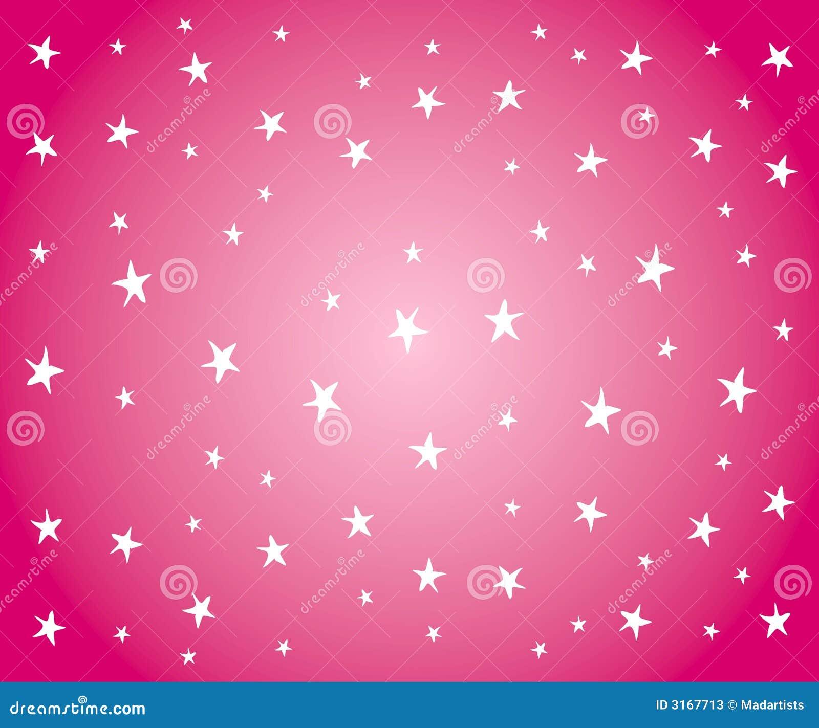 ... achtergrondpatroon van witte sterren op gradiënt roze achtergrond