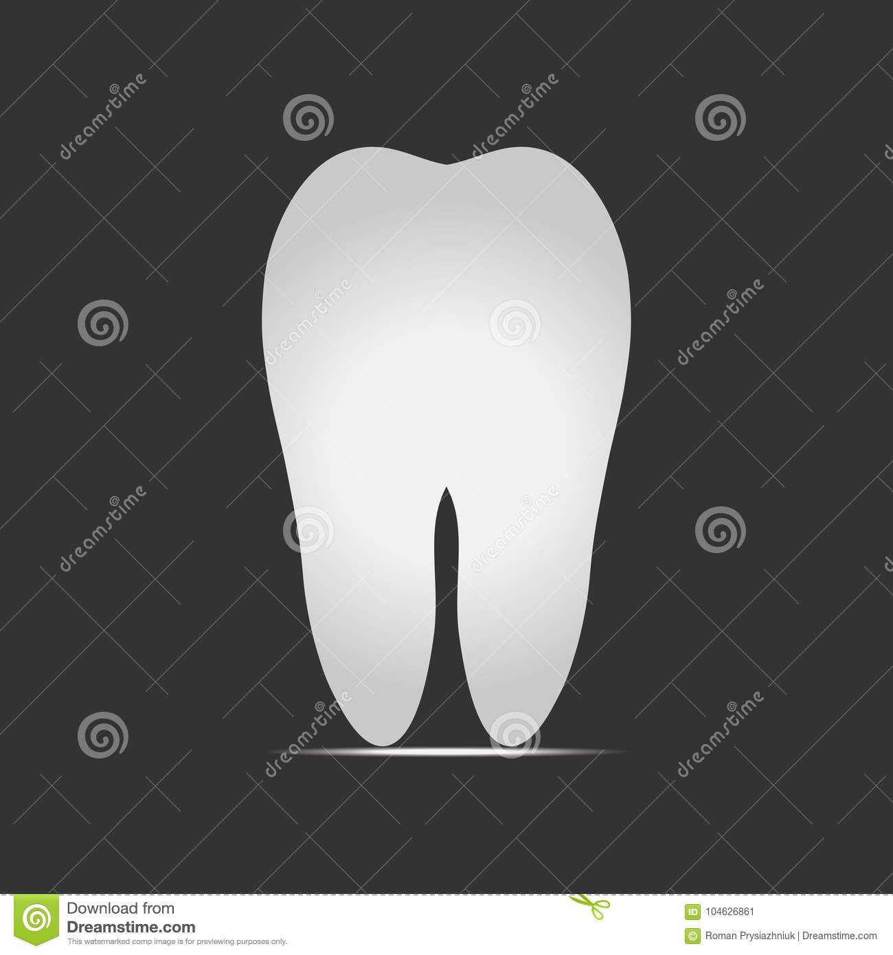 Download Witte Tand Op Donkere Achtergrond Vector Illustratie Vector Illustratie - Illustratie bestaande uit concept, achtergrond: 104626861