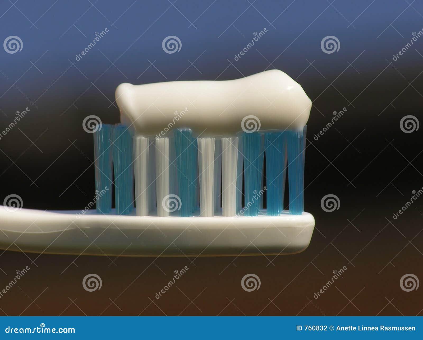 Witte tandenborstel