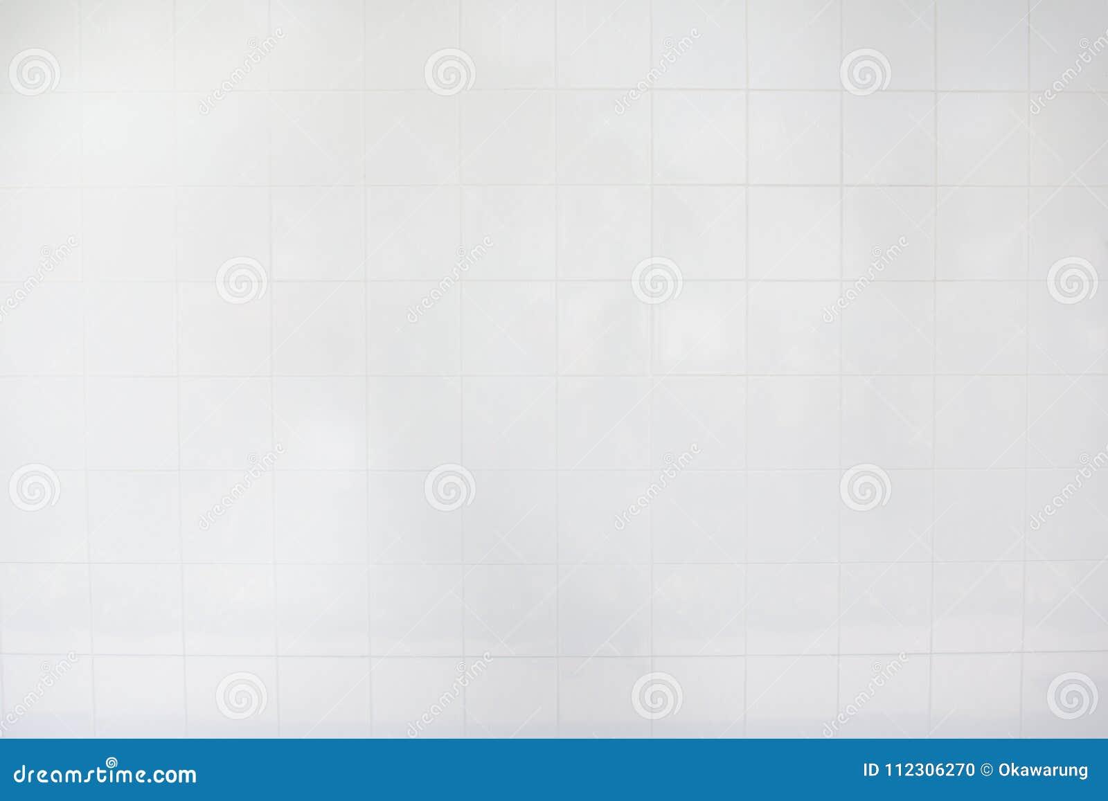 Witte tegelmuur/het Witte bureau van de tegelsvloer met isolate op witte achtergrond voor binnenlands ontwerp