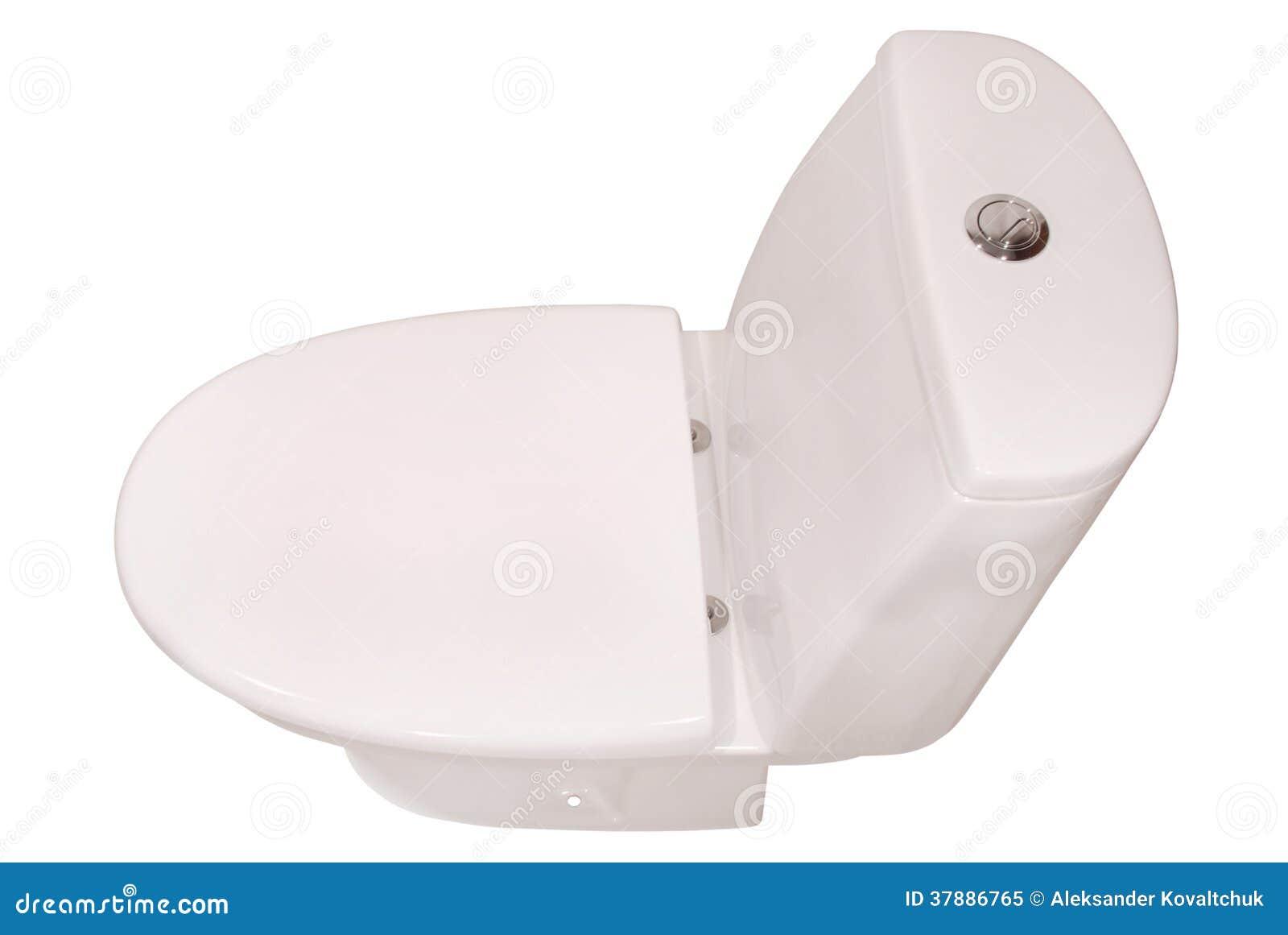 Witte toiletkom (het Knippen weg)