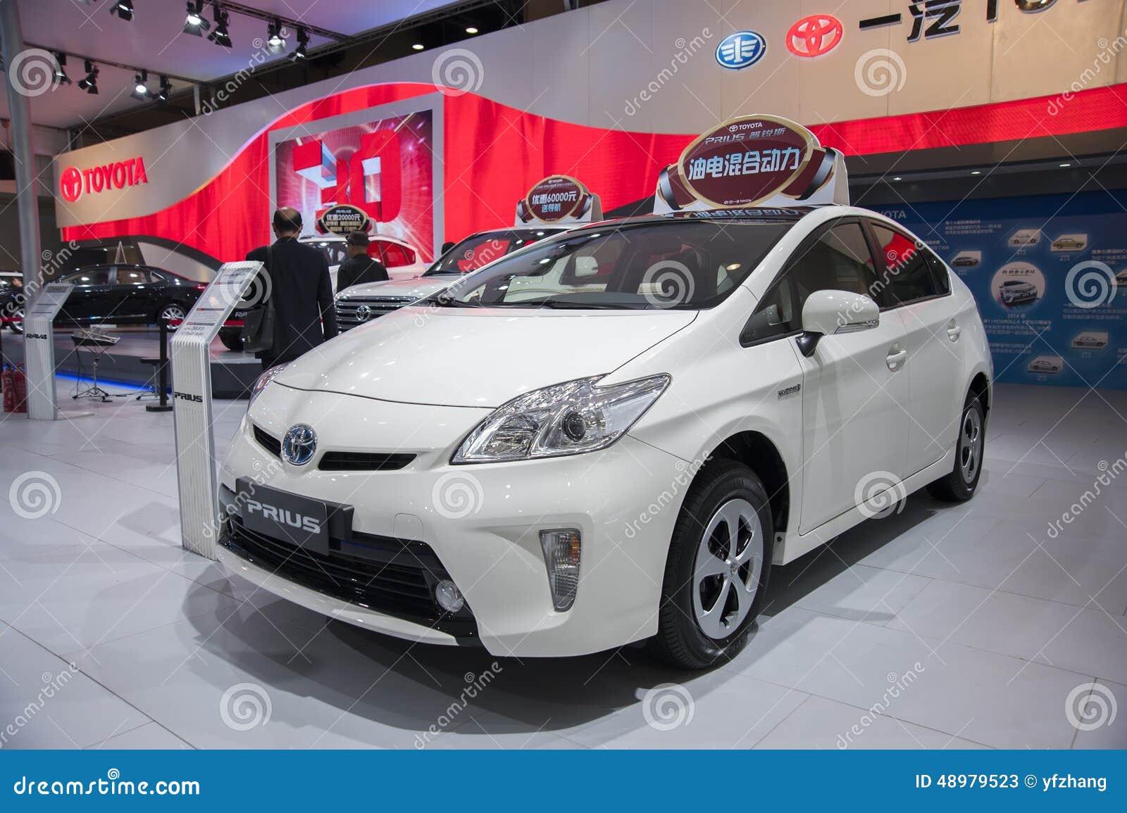 Witte Toyota-priusauto