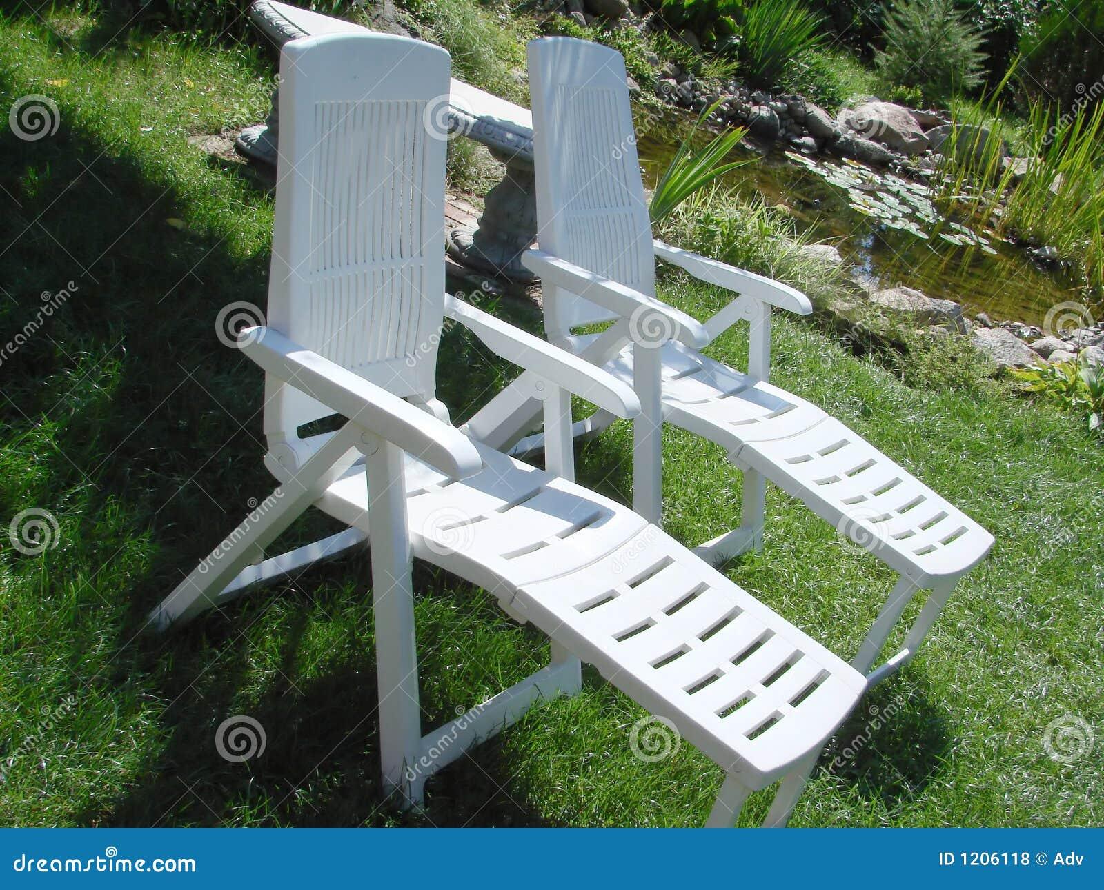 Witte Tuinstoelen Royalty vrije Stock Foto u0026#39;s   Afbeelding  1206118