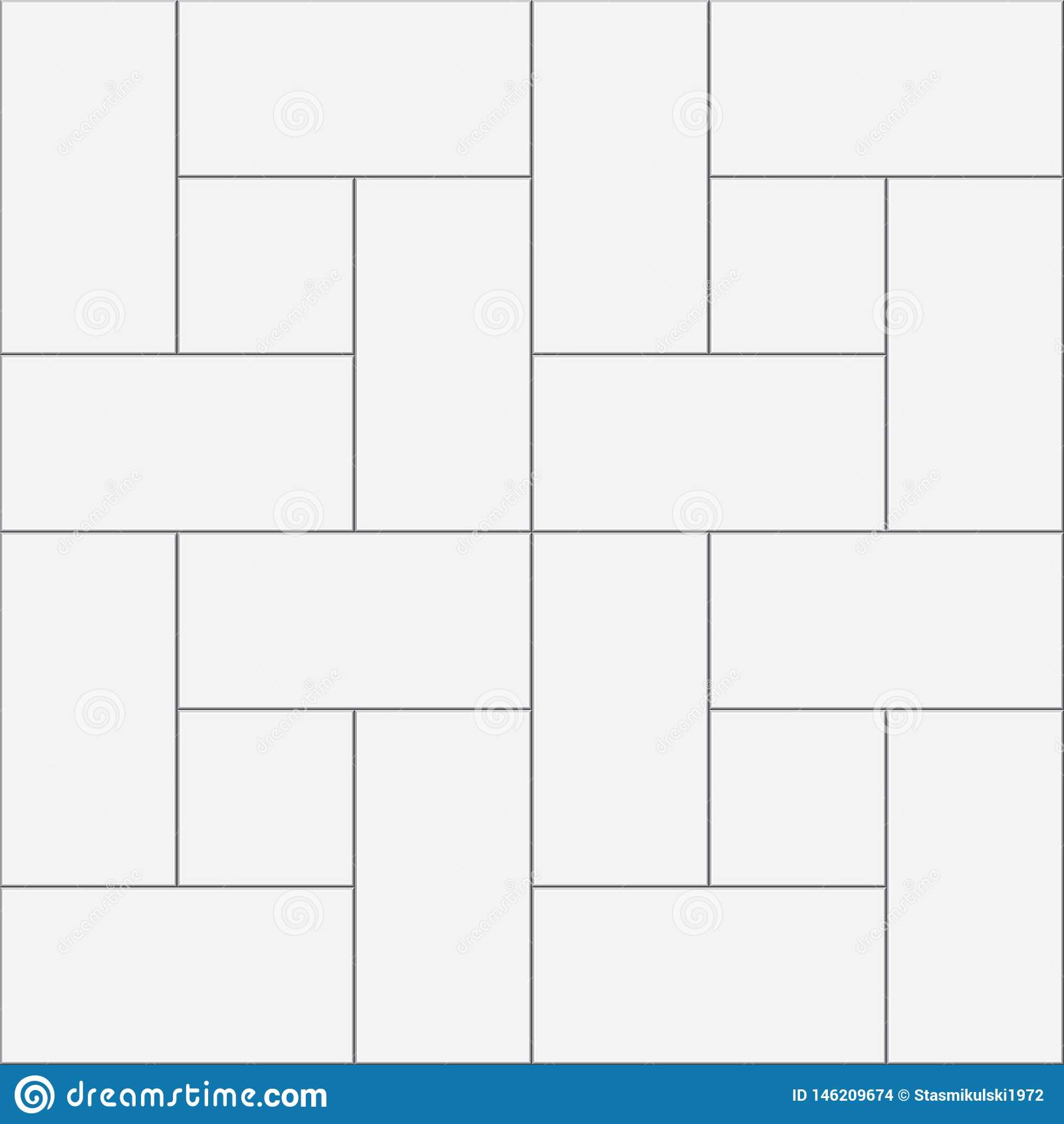 Witte vierkante en rechthoekige tegels