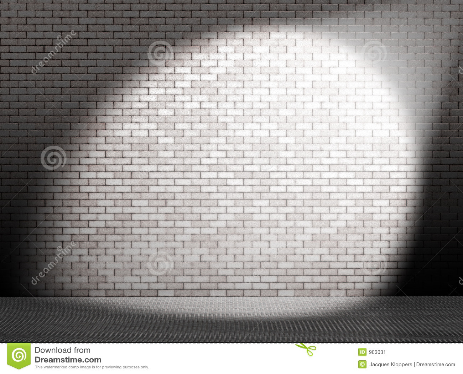 Witte vlek op muur