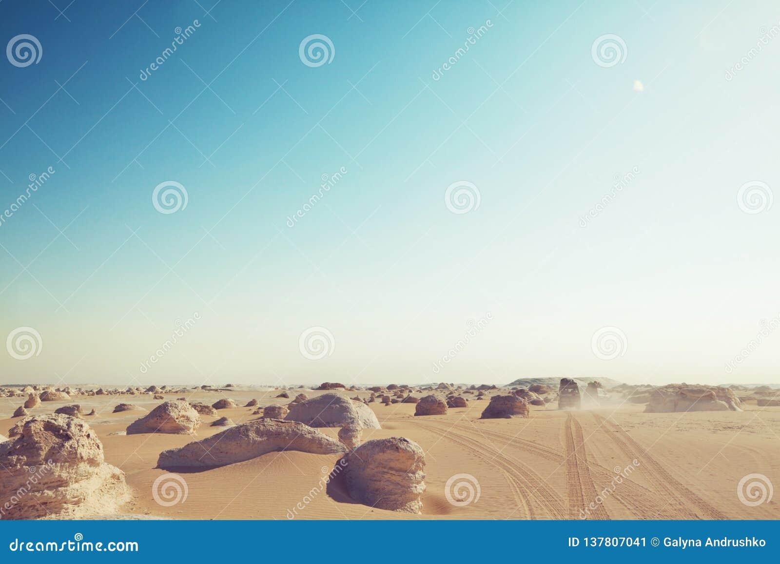 Witte woestijn in Egypte