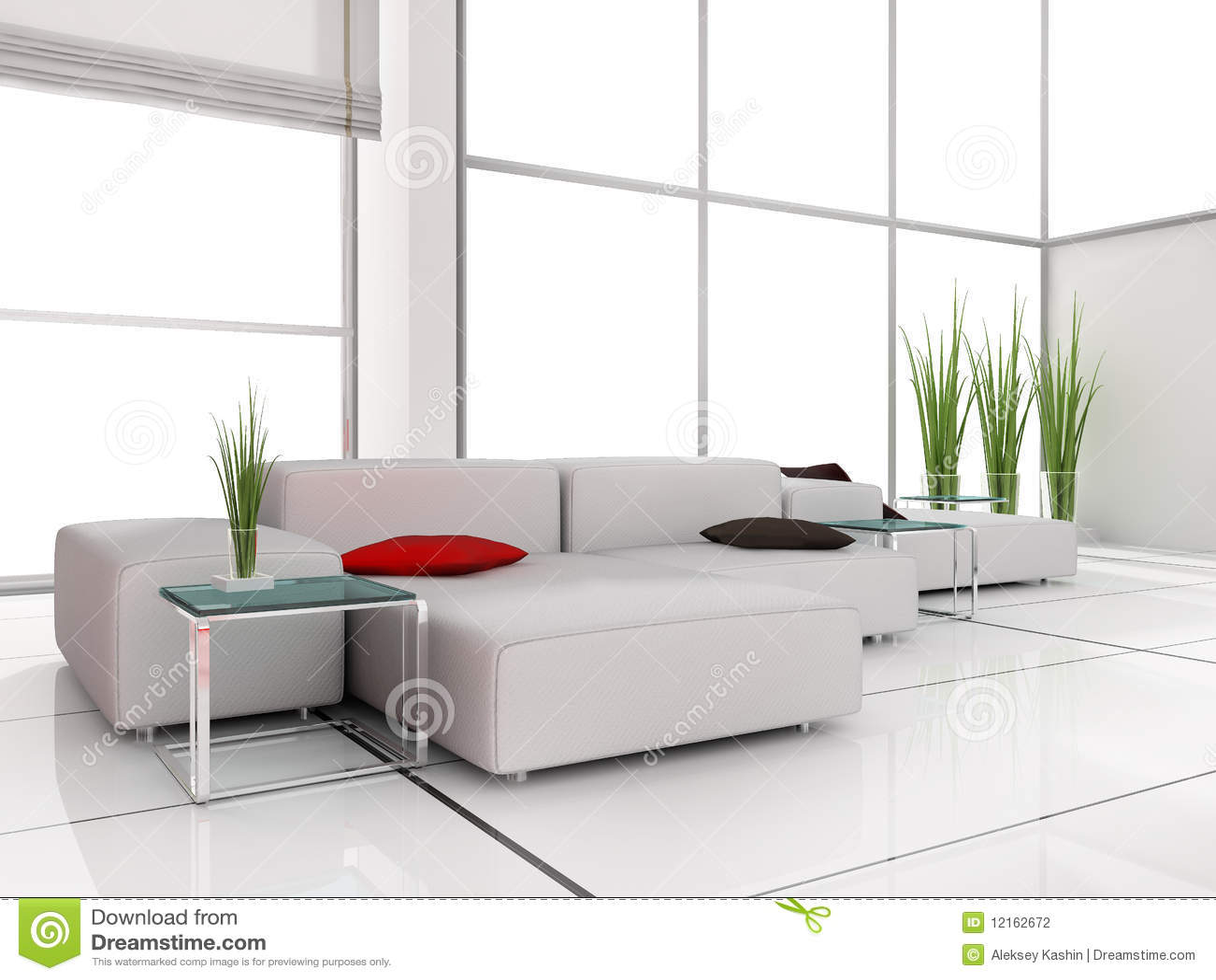 witte woonkamer stock fotografie afbeelding 12162672