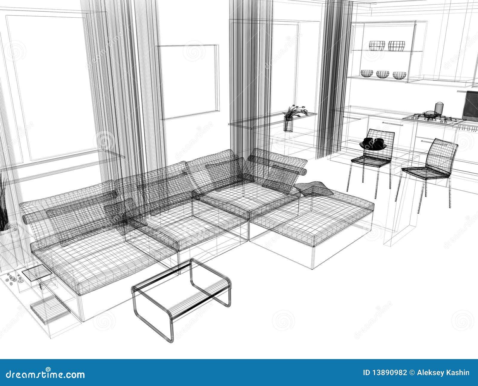 Witte woonkamer stock fotografie afbeelding 13890982 - Deco idee witte woonkamer ...