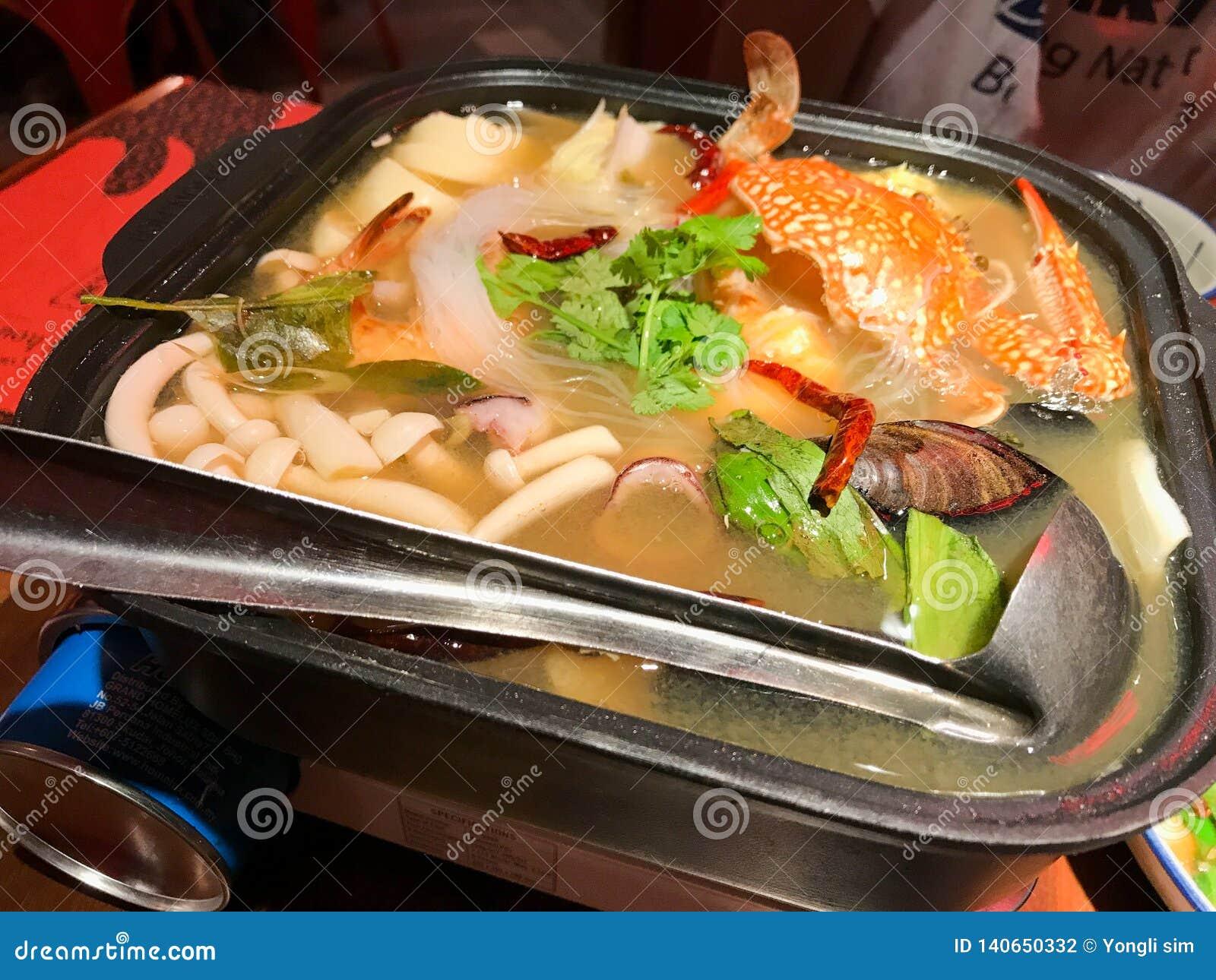 Witte Zeevruchten Tom Yum Thailand Cuisine