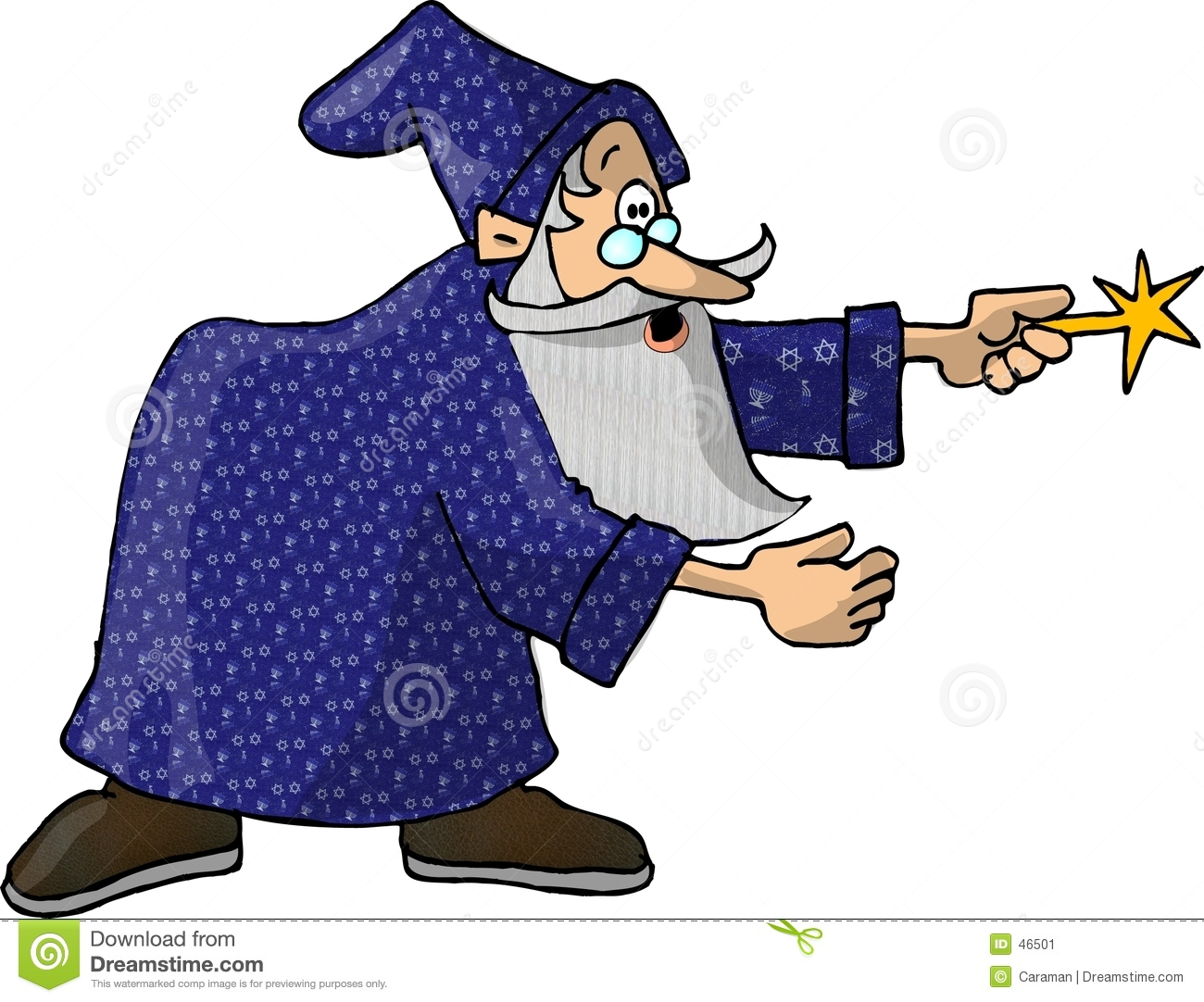 Download Wizard 1 stock illustration. Illustration of humor, wand - 46501