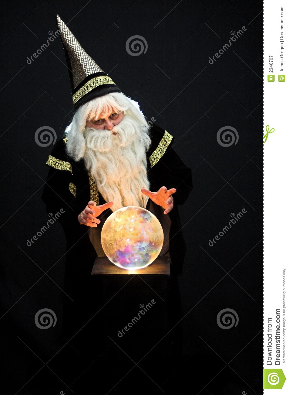 Wizard Casting A Spell Royalty Free Stock Photography