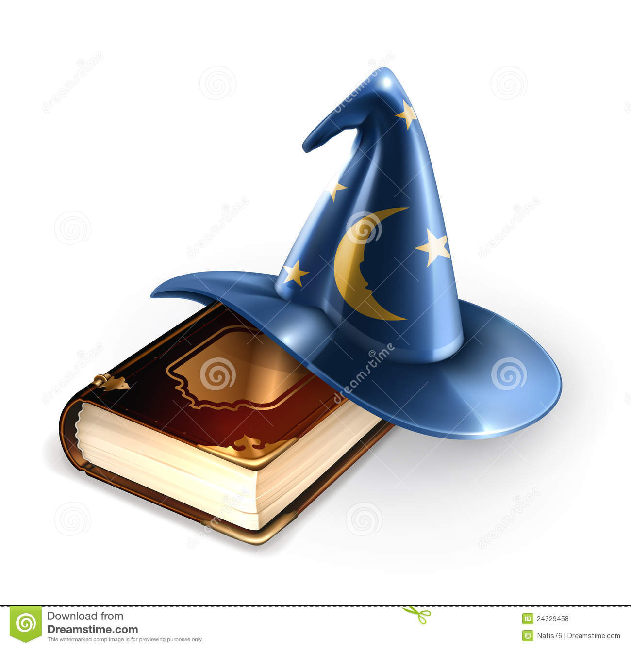 Wizard Hat And Old Book Royalty Free Stock Photos - Image: 24329458