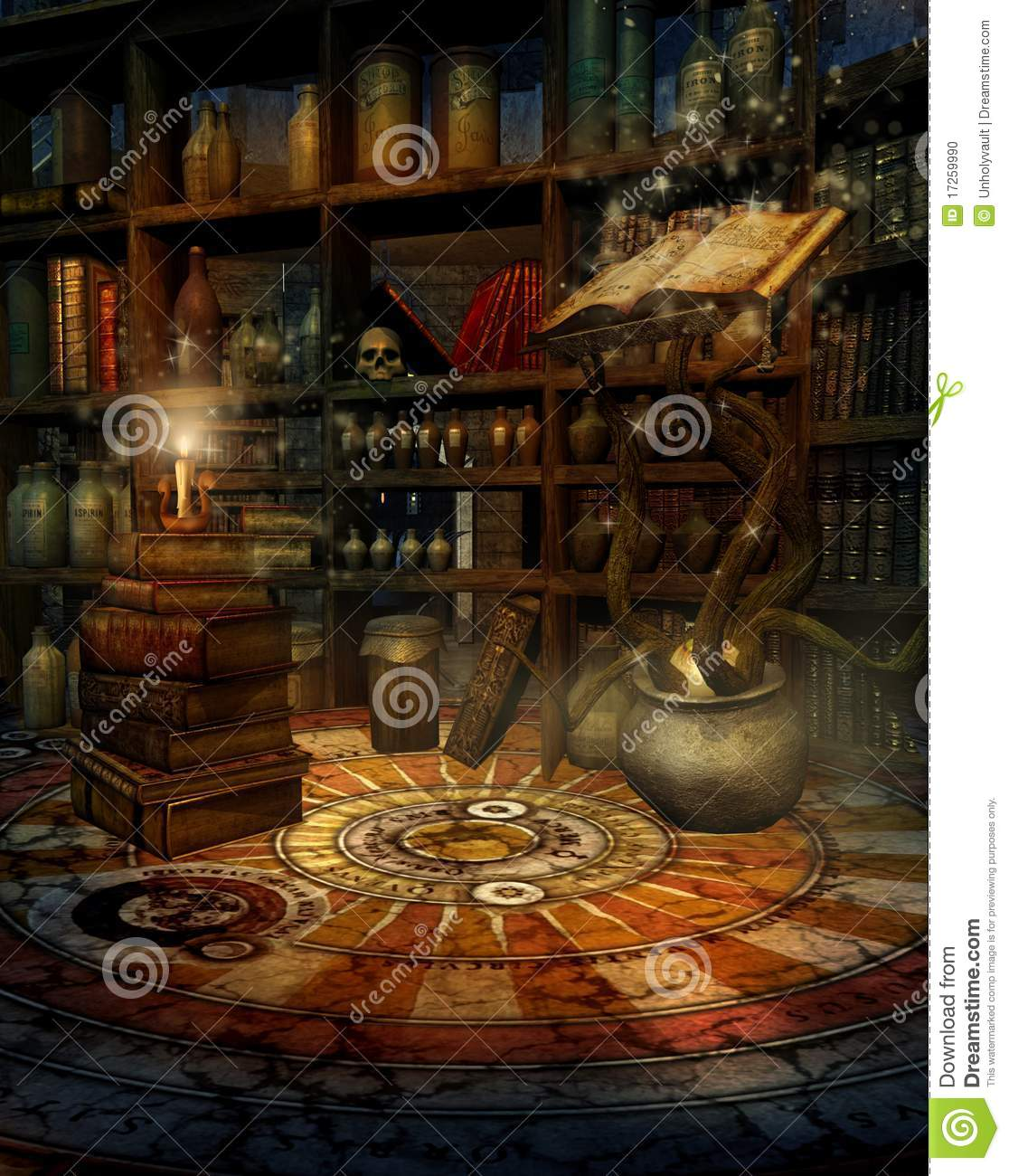 House Plans 5 Bedrooms Wizard S House 2 Stock Illustration Image Of Light Study