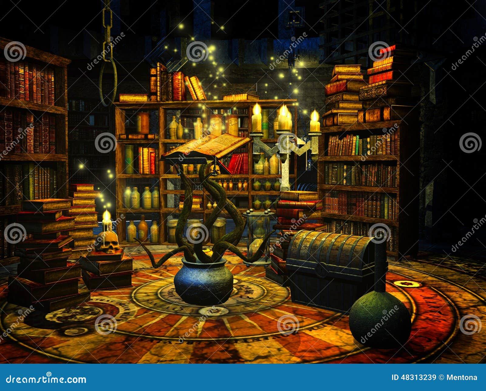 Wizard S Study Stock Illustration Image 48313239