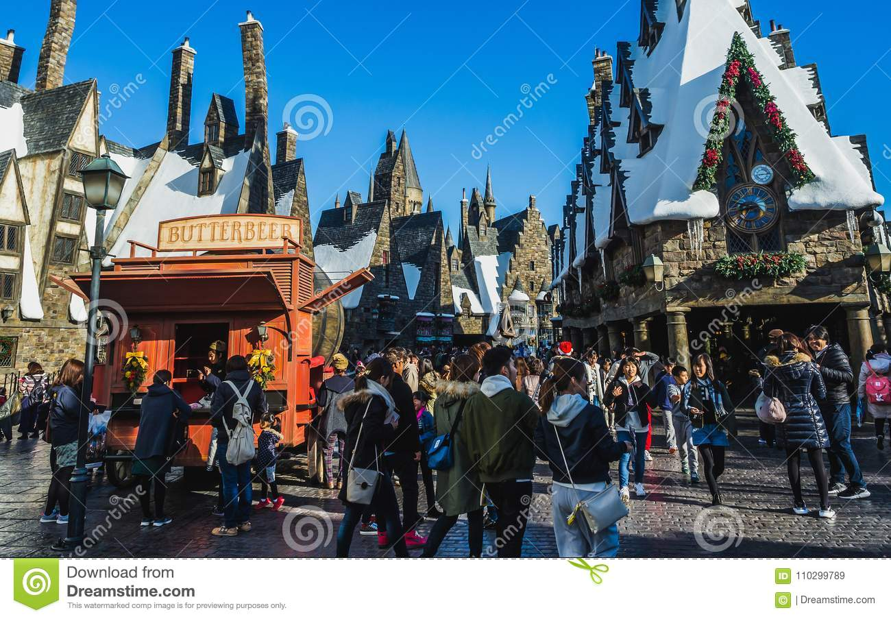 The Wizarding World of Harry Potter in Universal Studios Japan.