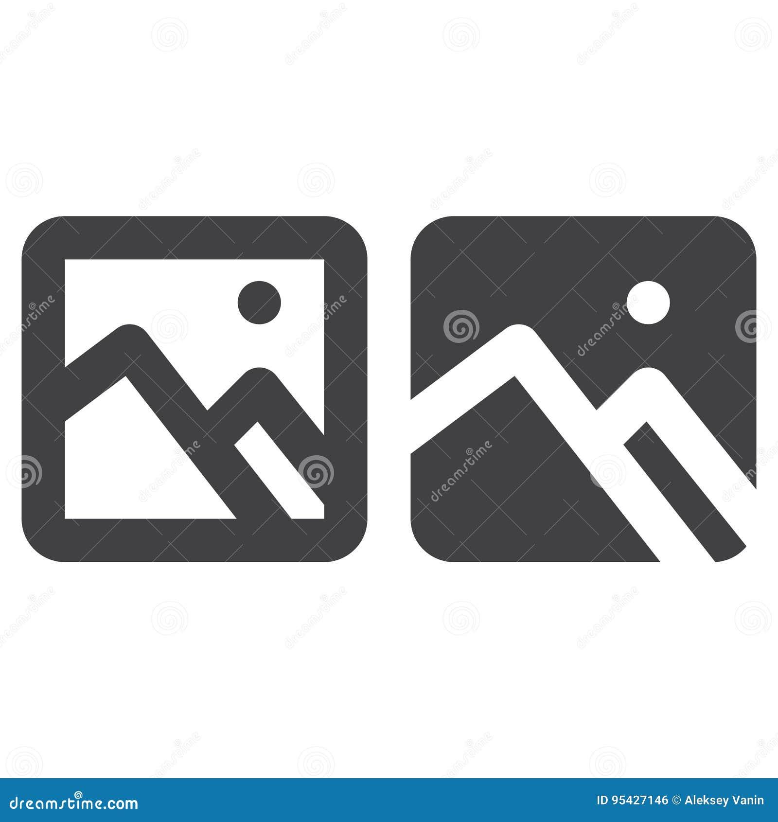 Wizerunek, obrazek gęsta linia, bryły ikona, kontur i piktogram odizolowywający na bielu, wypełniający wektoru znaka, liniowego i