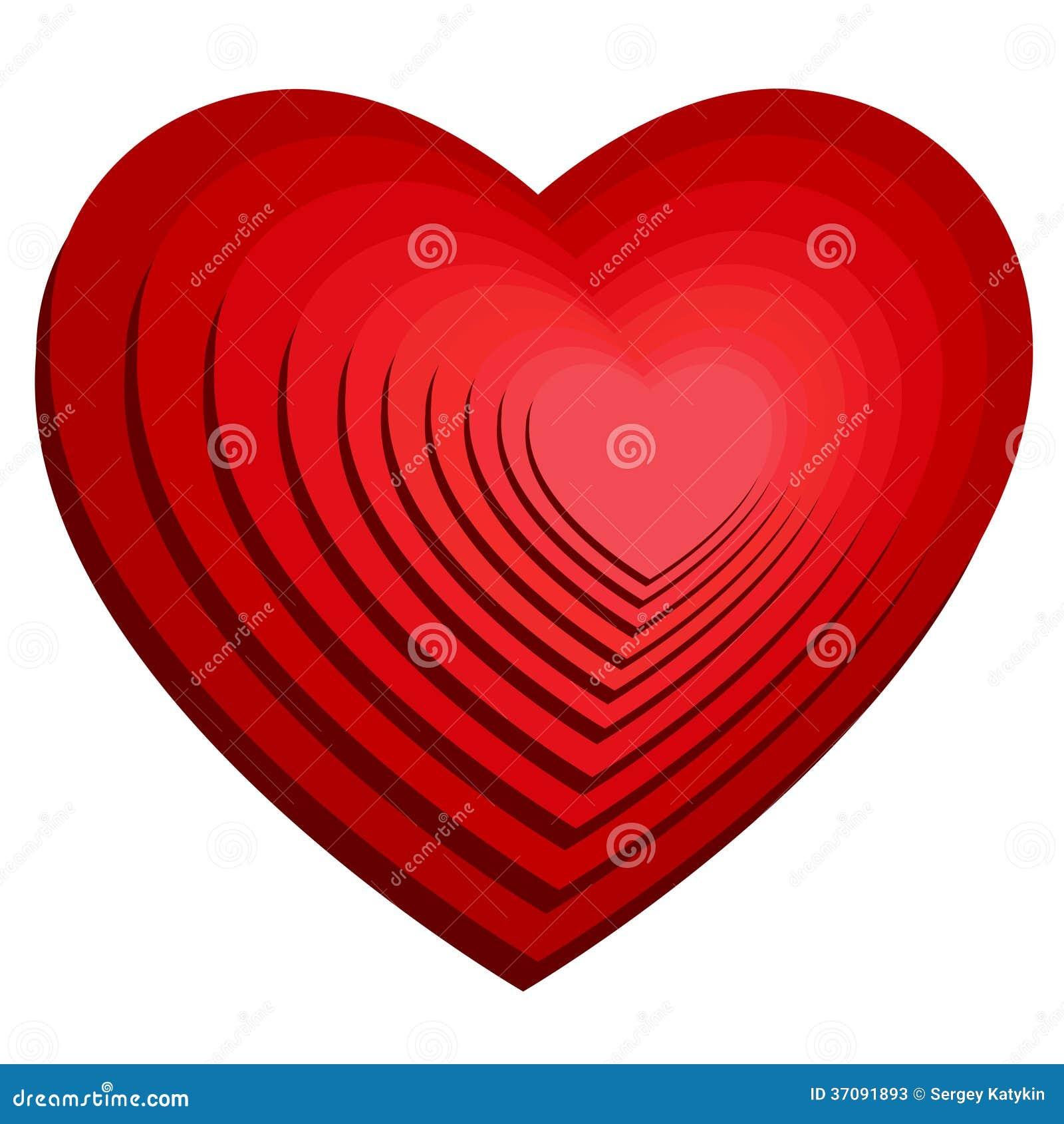 Download Wizerunek Serce. Wakacje Miłość. Ilustracja Wektor - Ilustracja złożonej z granica, odosobniony: 37091893